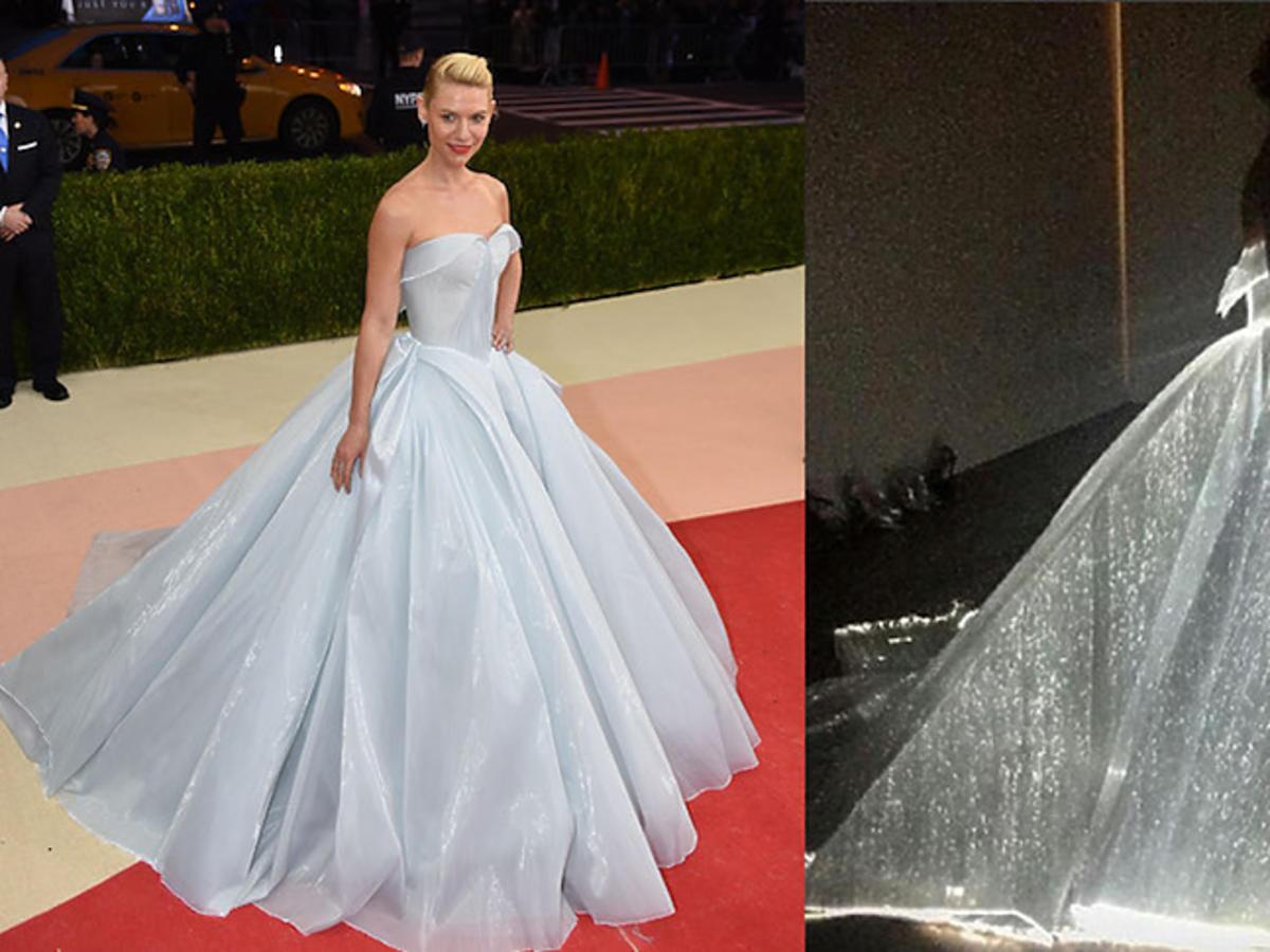Aktorka Claire Danes na gali MET pojawiła się w sukni od Zaca Posena