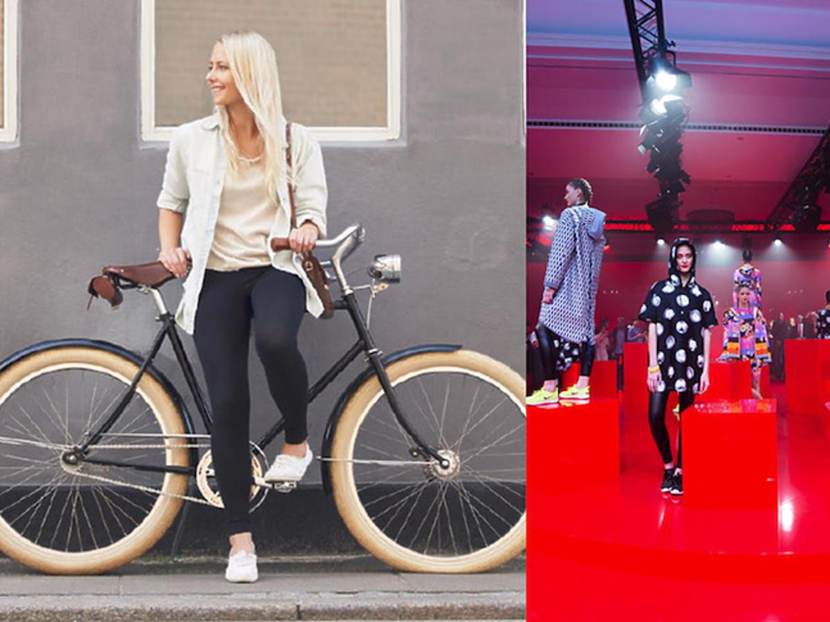 Blondynka na rowerze i pokaz Giles