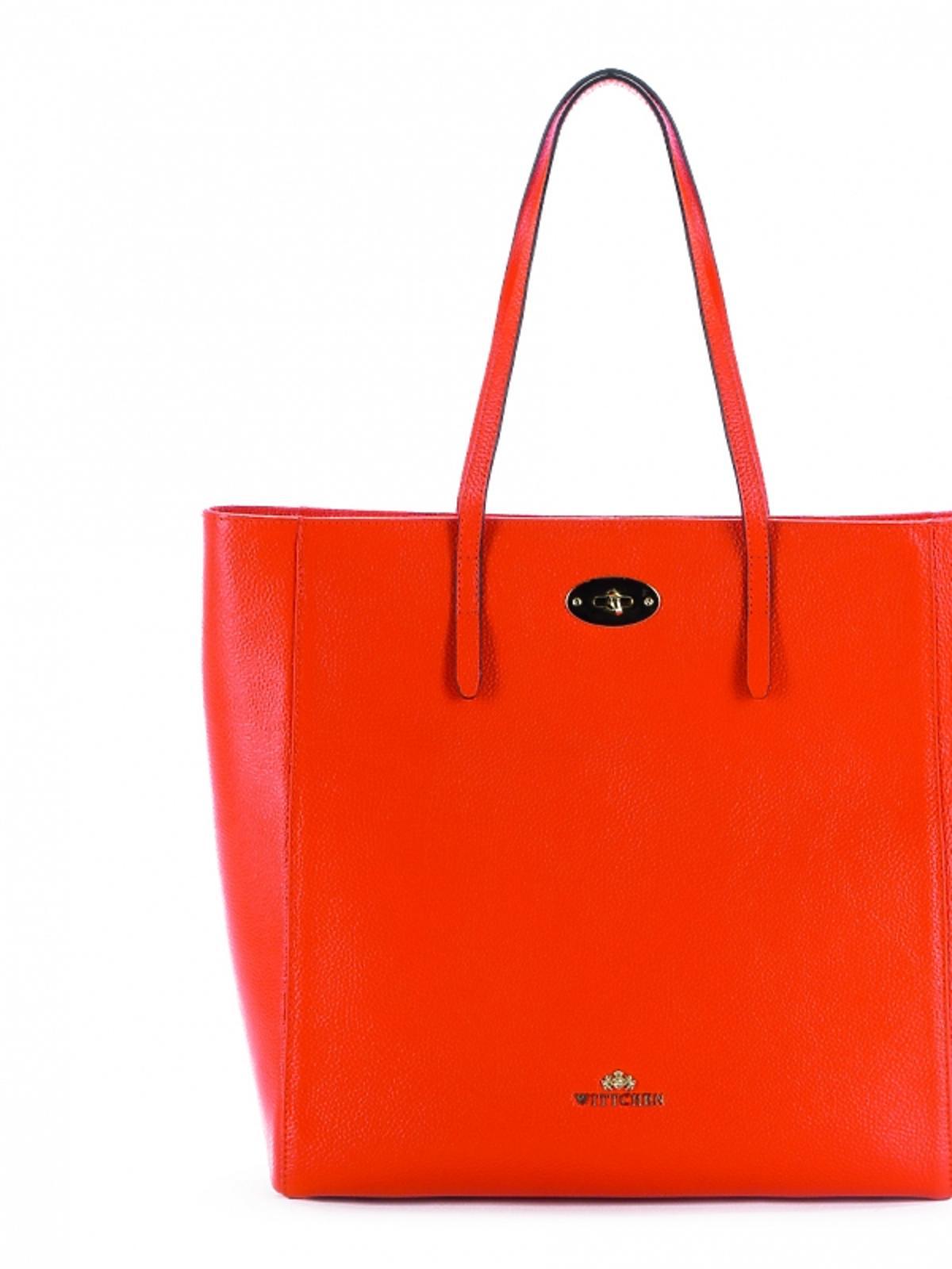 Duża torba typu tote w pomarańczowym kolorze