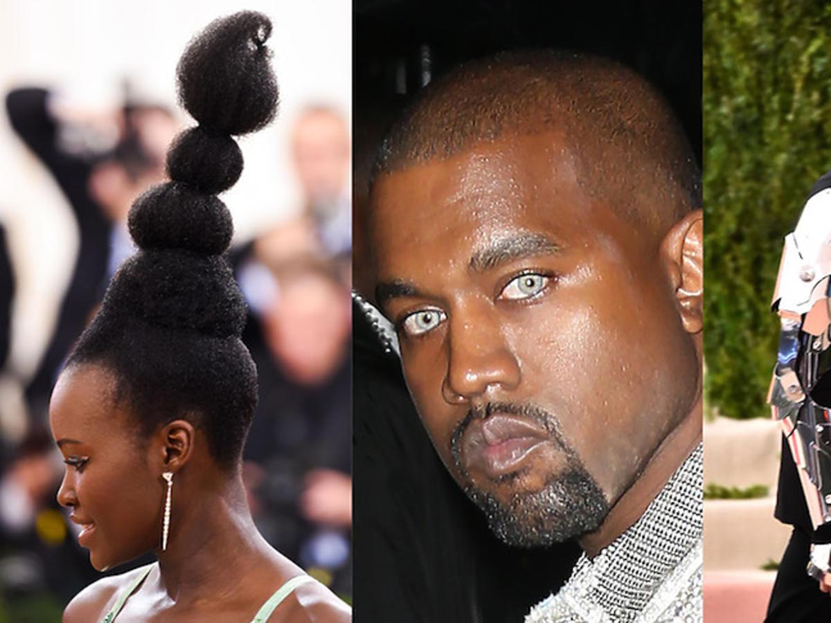 Dziwne stylizacyjne pomysły Lupity Nyong'o, Kanyego Westa i Zayna Malika z gali MET