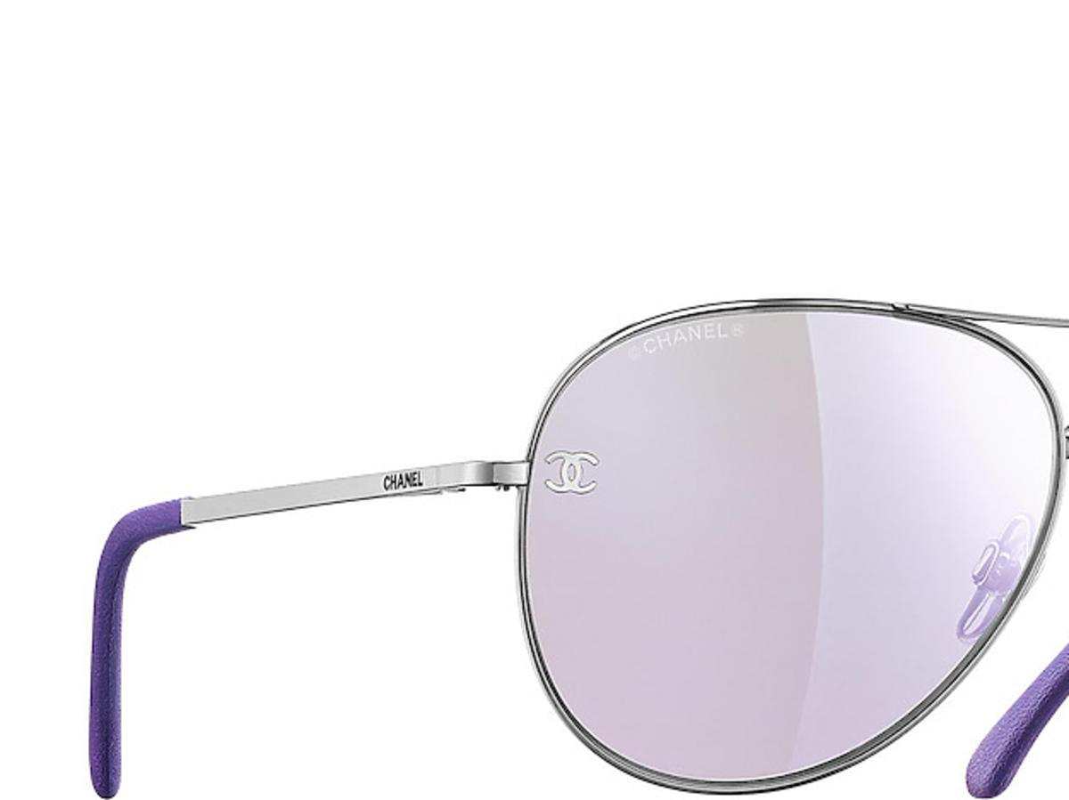 Fioletowe, przeciwsłoneczne okulary przeciwsłoneczne typu aviator