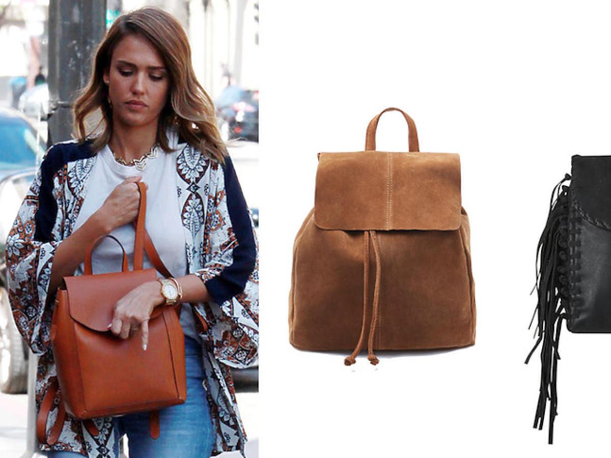 Jessica Alba z plecakiem oraz propozycje z naszych sklepów