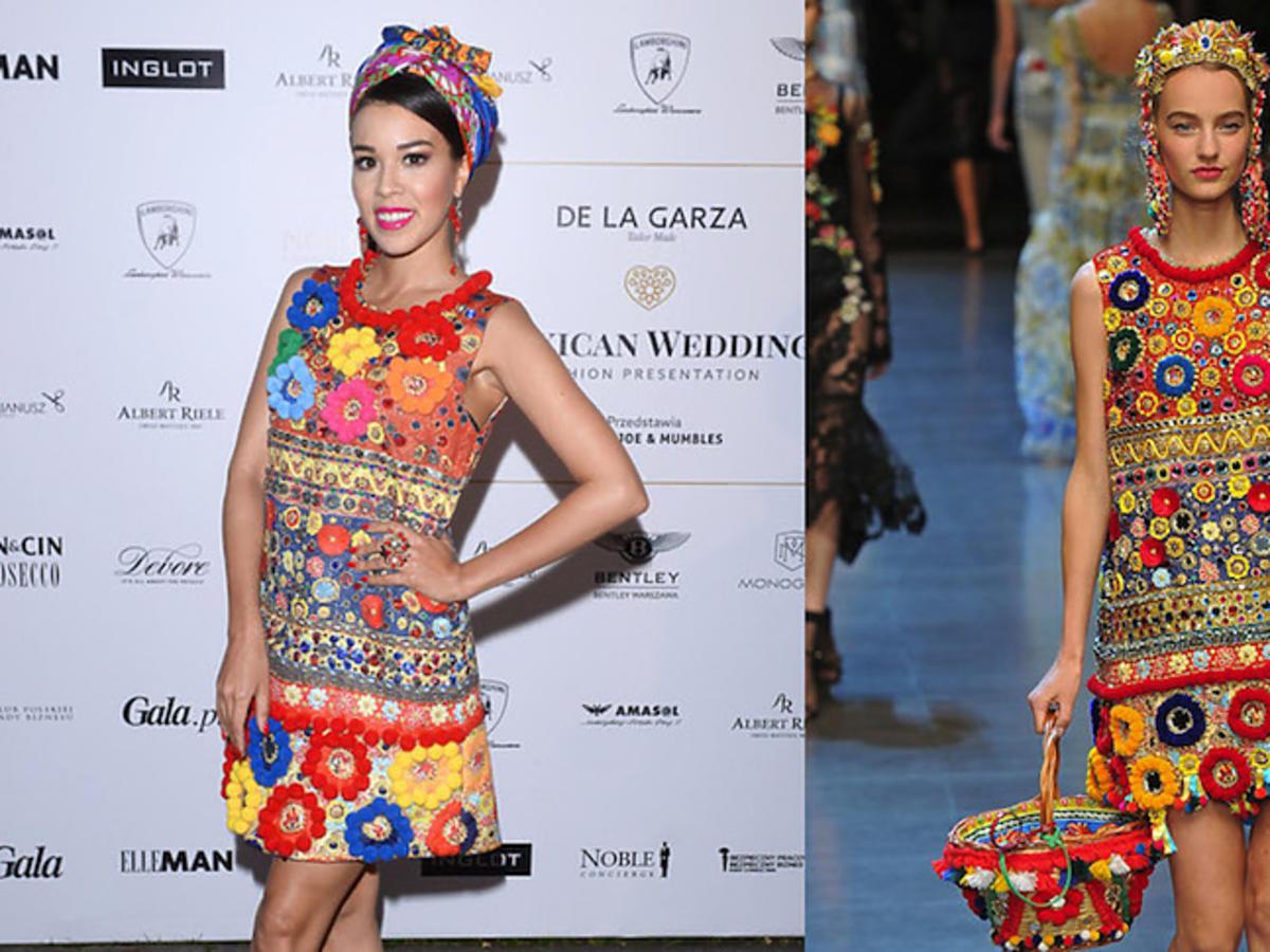 Macademian Girl i modelka na pokazie Dolce & Gabbana