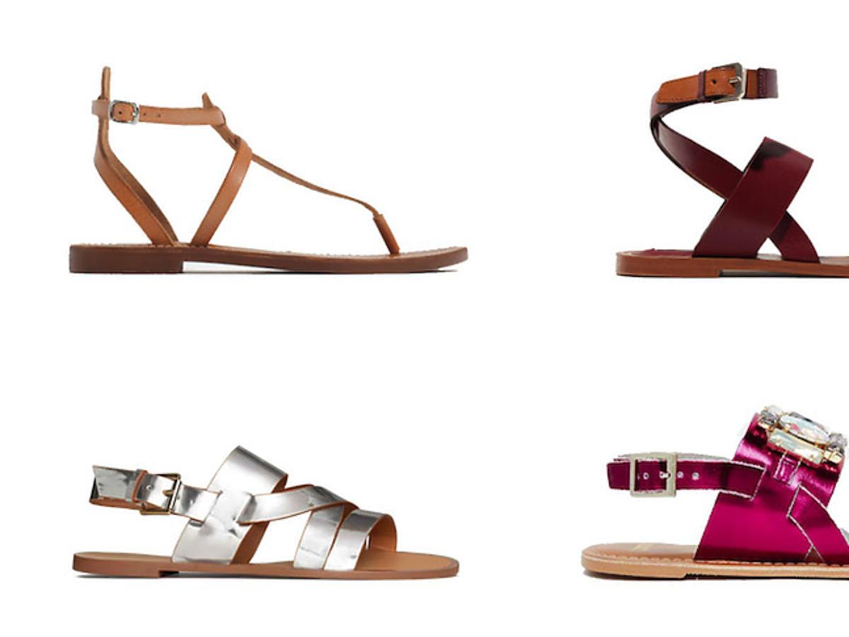 Modne sandałki z wyprzedaży