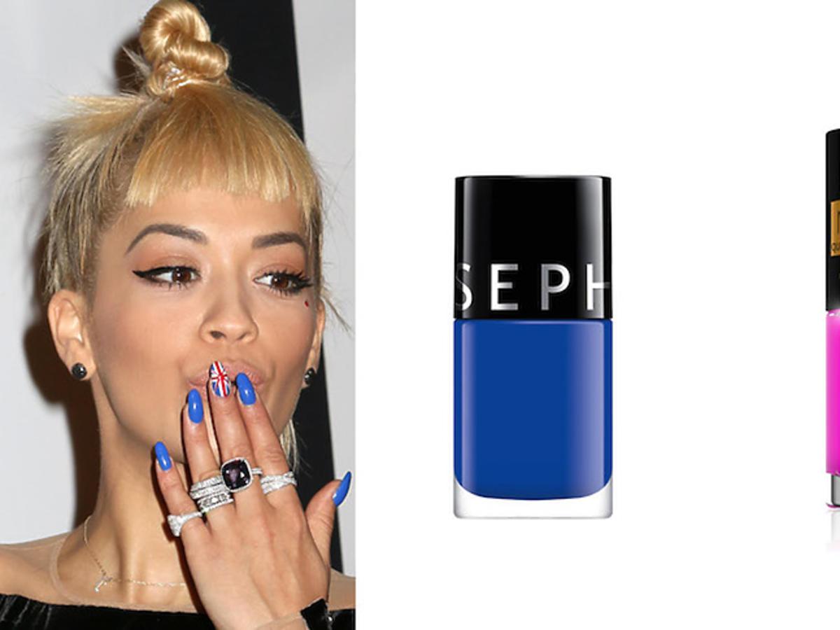 Rita Ora z neonowymi paznokciami i lakiery do paznokci