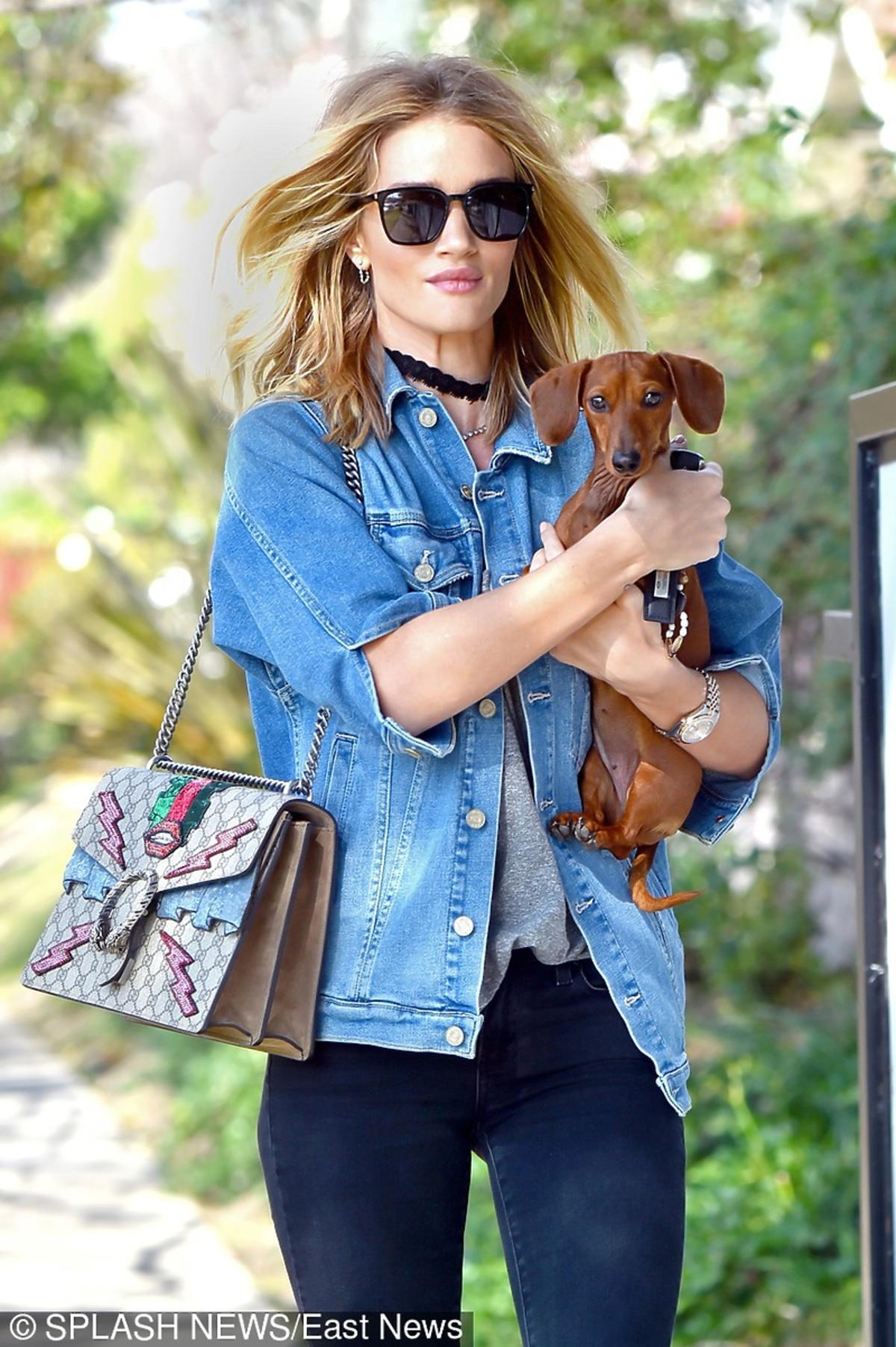 Rosie Huntington-Whiteley z torebką Gucci Dionysus