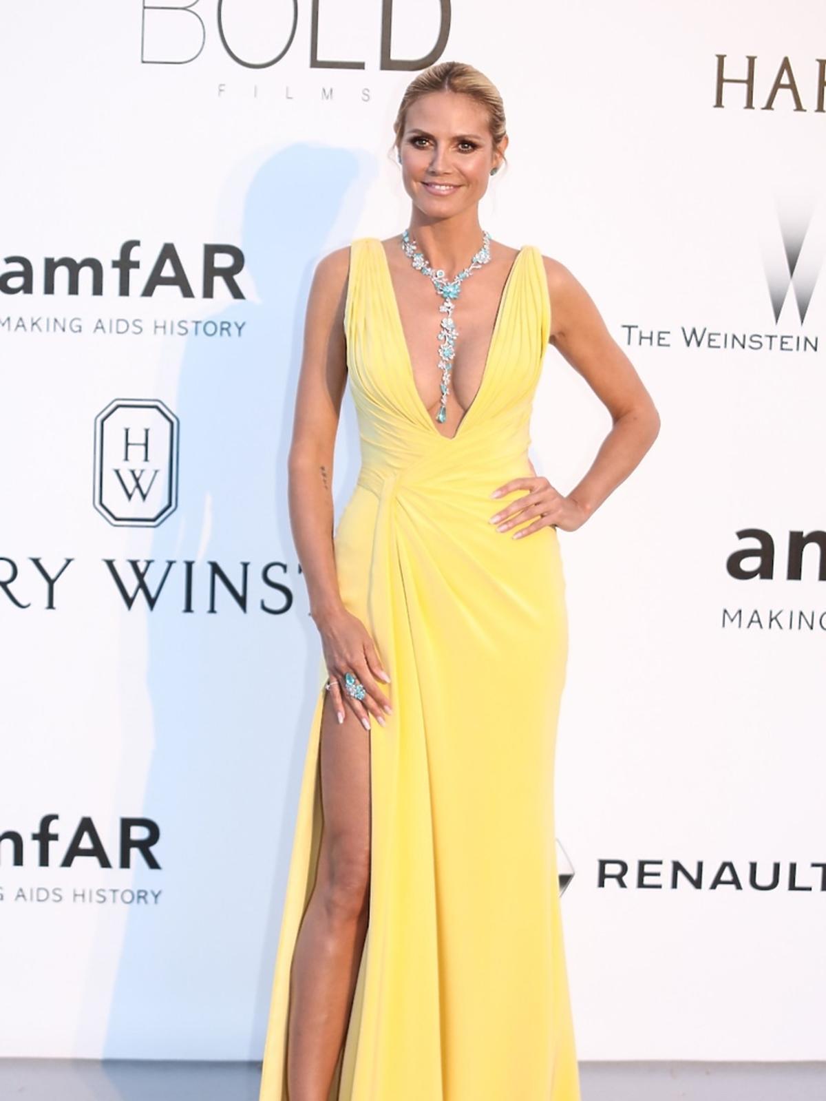 Seksowna Heidi Klum na gali amfAR w Cannes