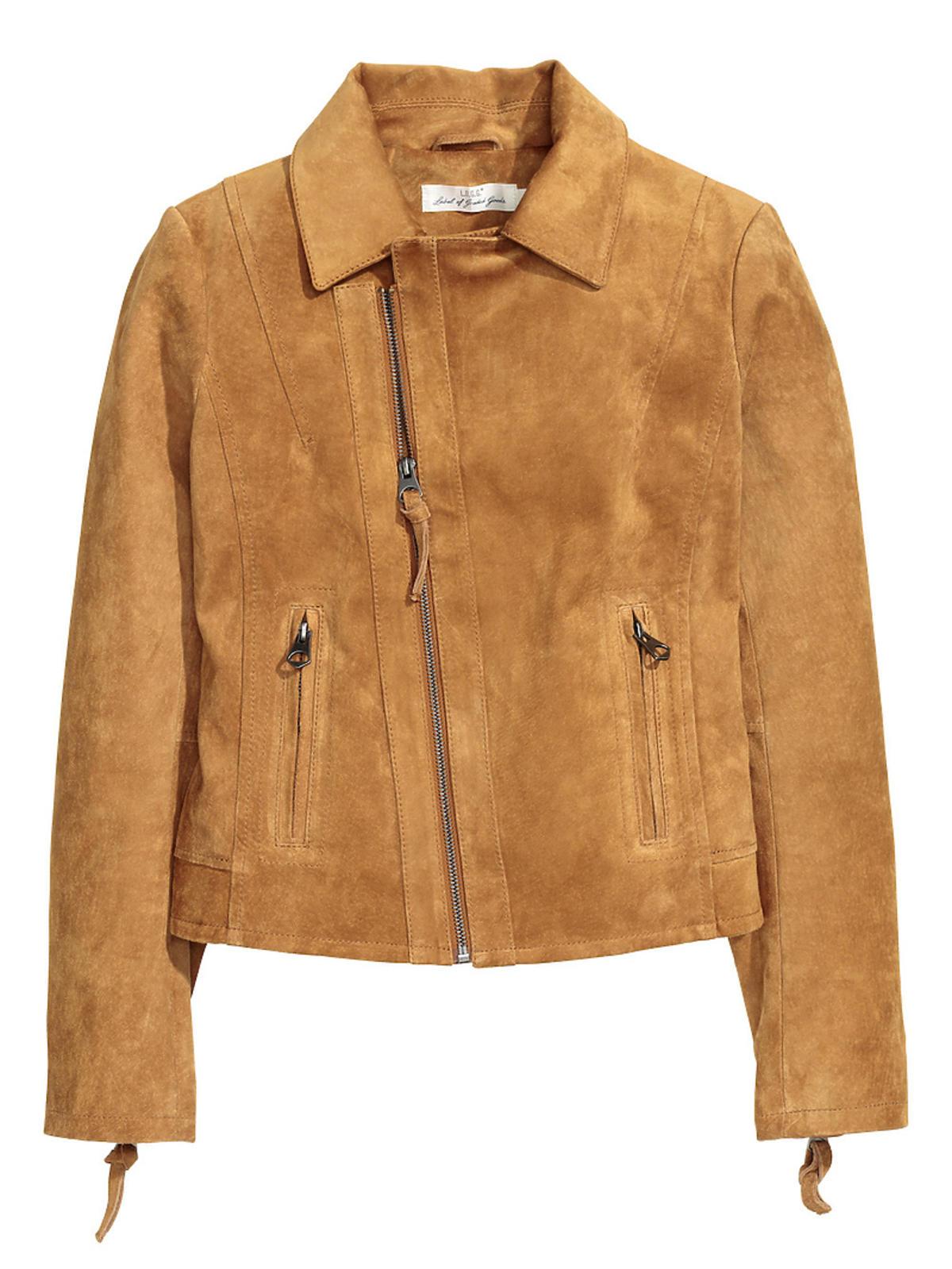 Zamszowa kurtka marki H&M, 499 zł