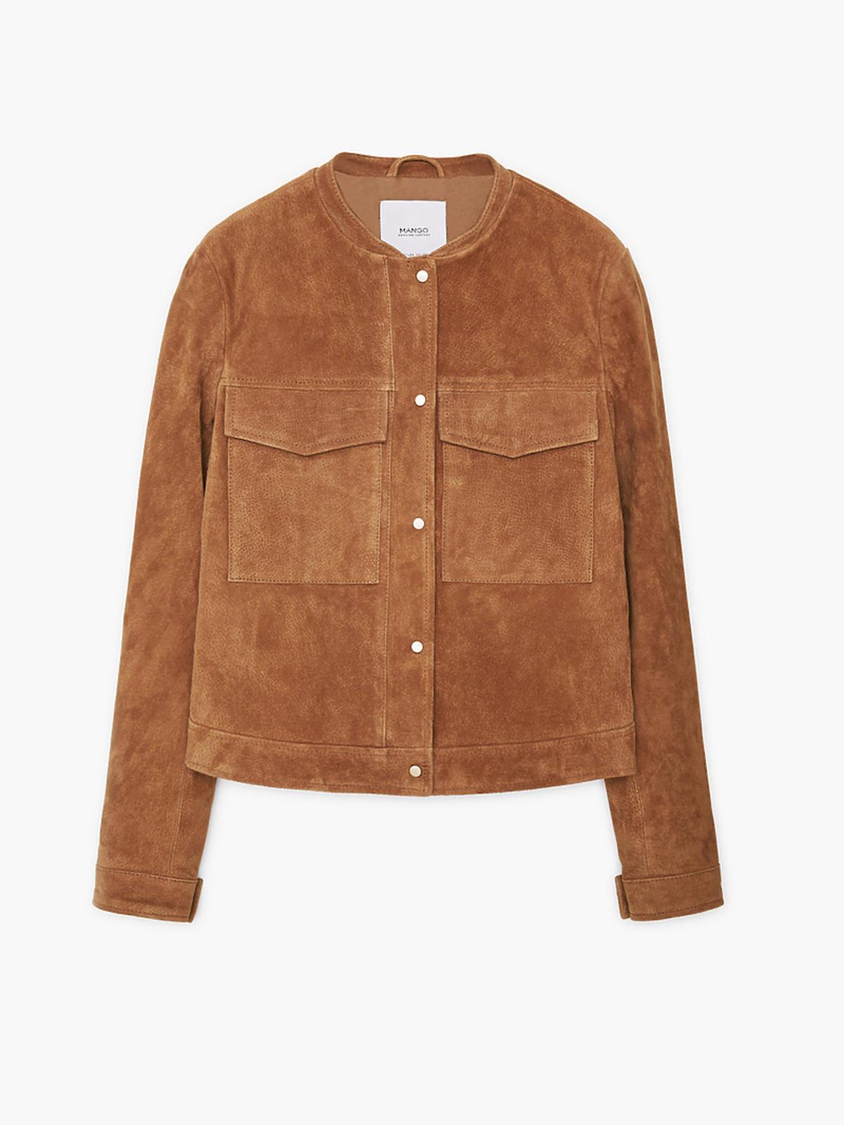 Zamszowa kurtka marki Mango, 299,90 zł