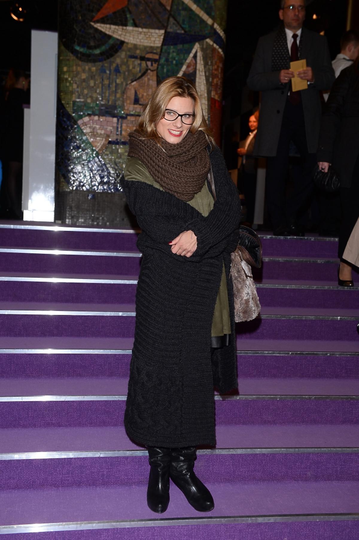 Anna Głogowska na otwarciu nowej sceny Teatru Kwadrat