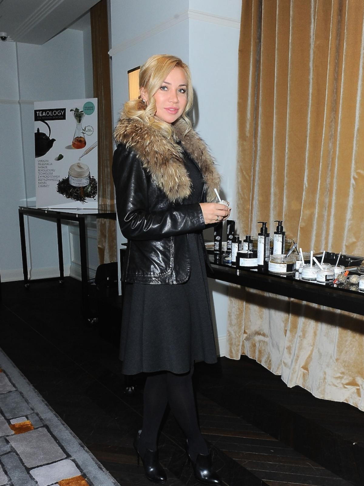 Lidia Kopania na prezentacji kosmetyków