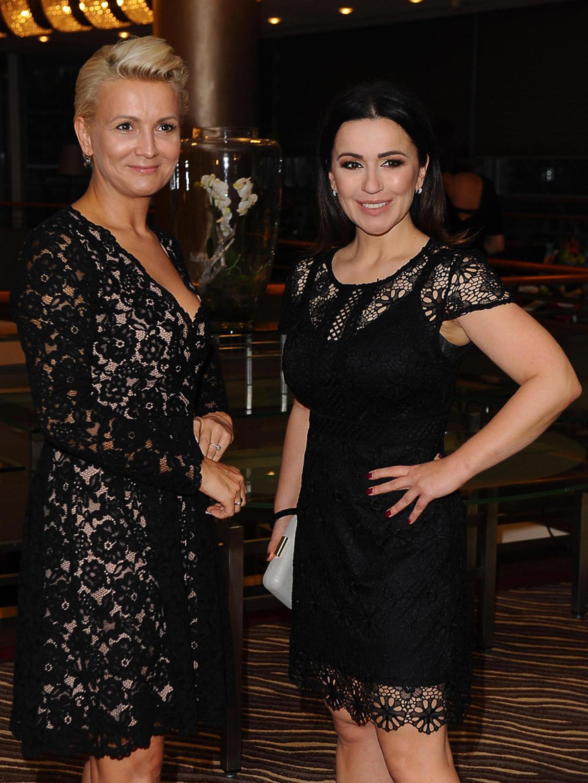 Beata Tadla i Marta Kuligowska na gali Hotel Przyjazny Rodzinie