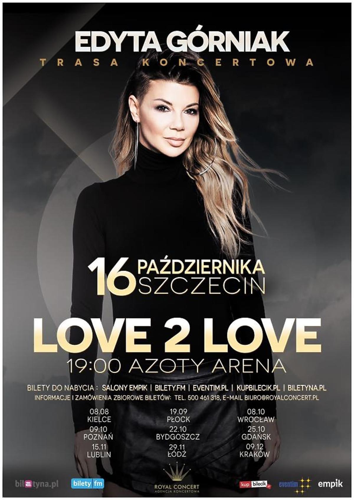 Edyta Górniak - plakat trasy koncertowej Love 2 Love