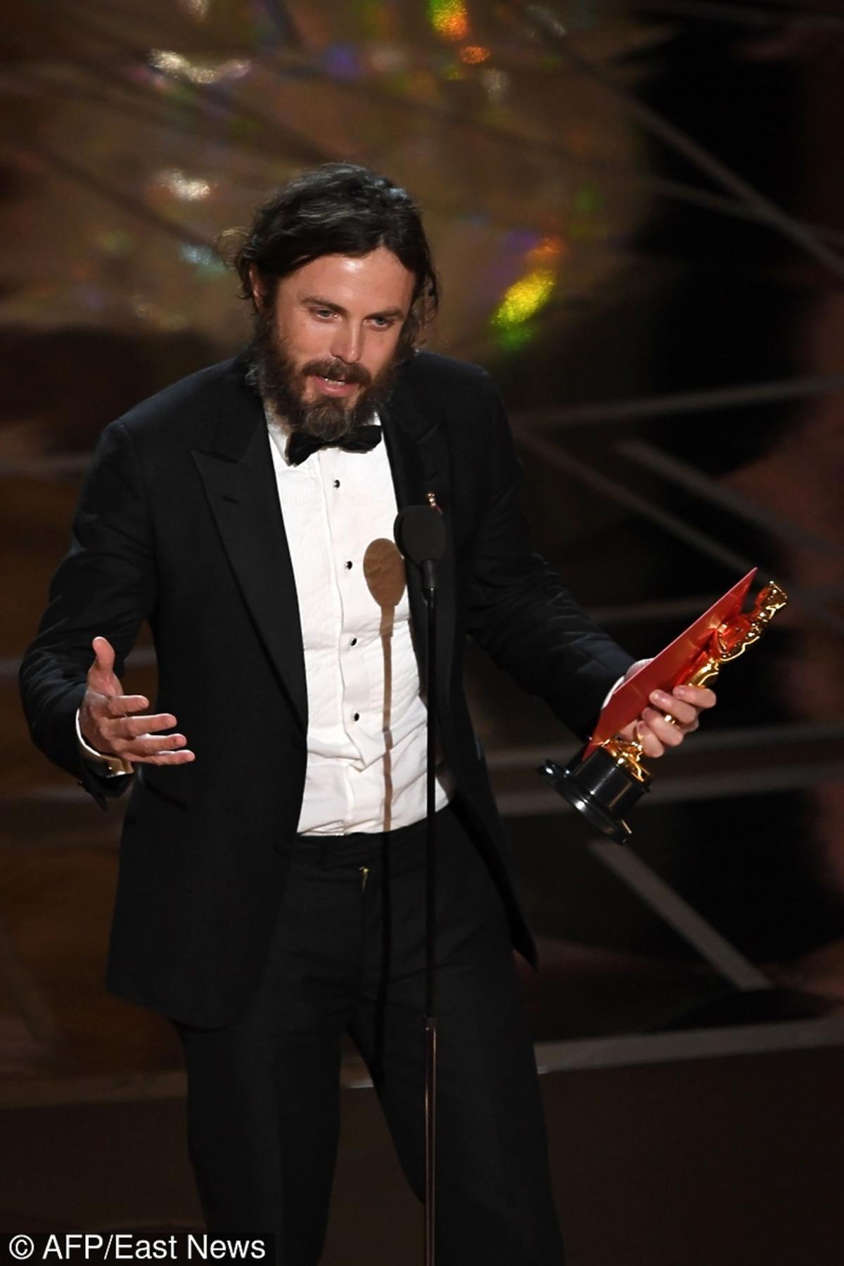 Casey Affleck na gali rozdania Oscarów 2017