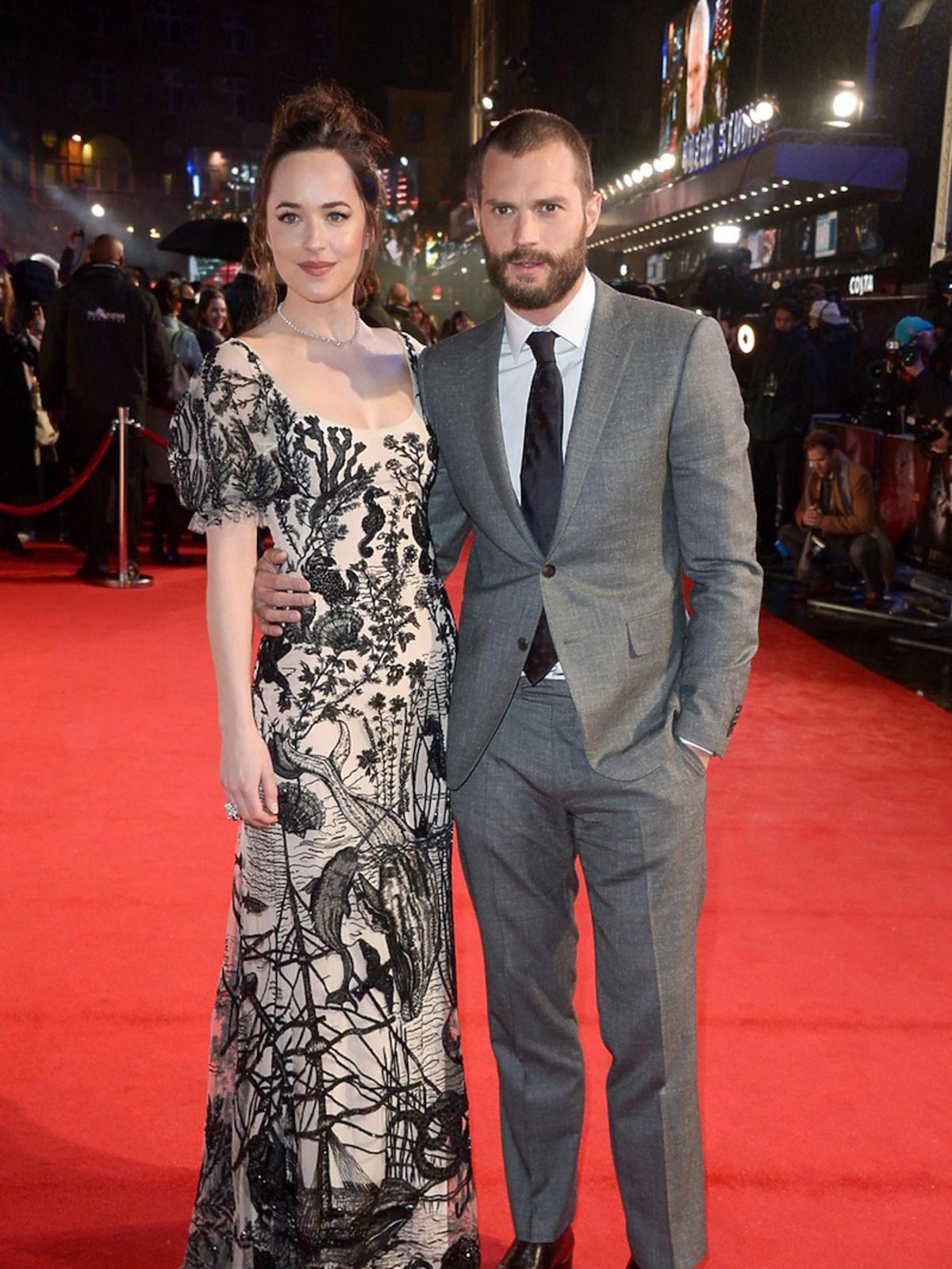 Dakota Johnson i Jamie Dornan w Londynie na premierze 2 części Greya