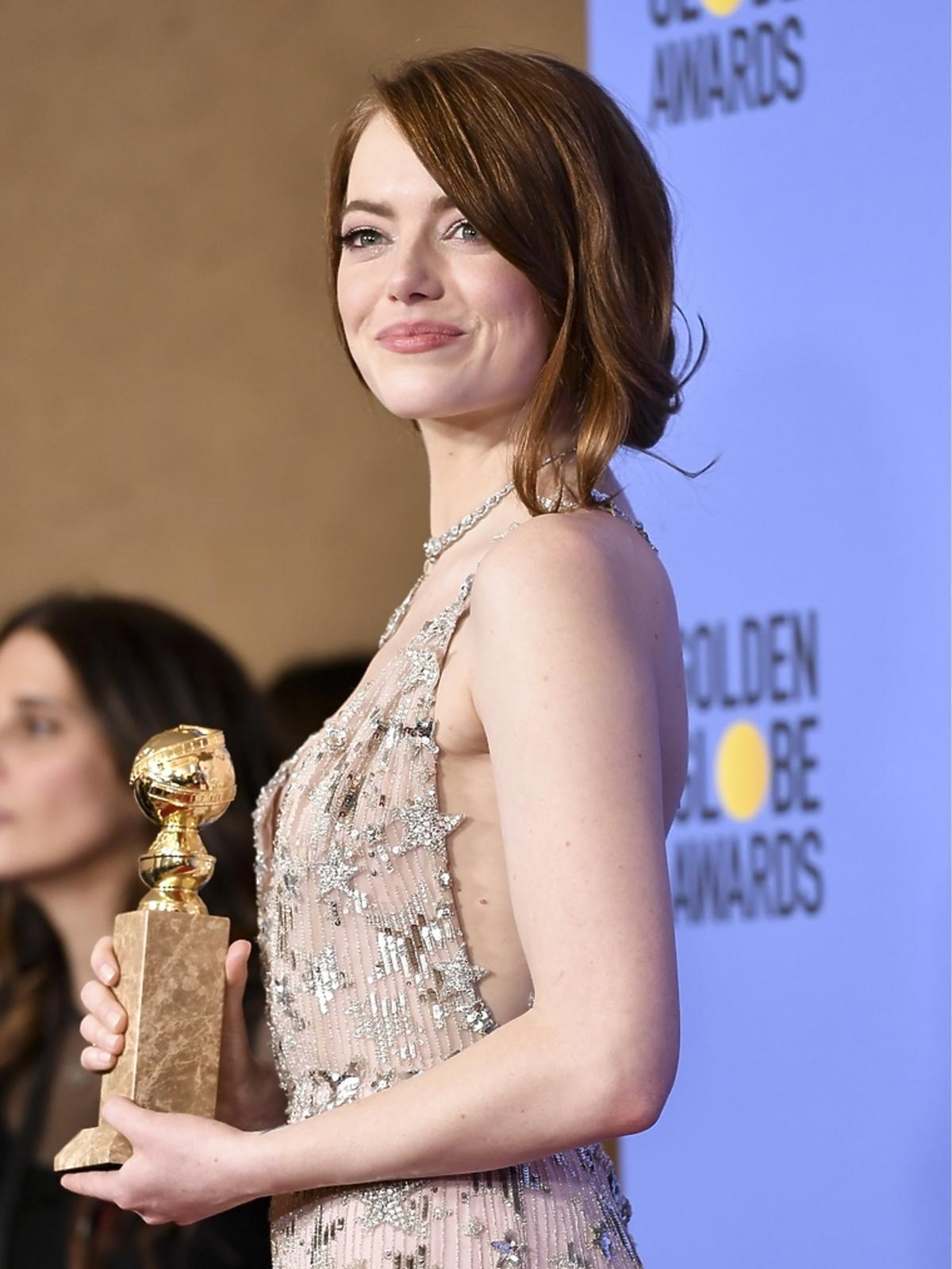 Emma Stone podczas 74. ceremonii wręczenia Złotych Globów