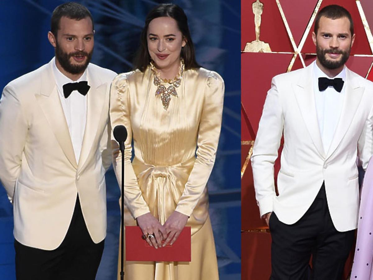 Jamie Dornan i Dakota Johnson na Oscarach 2017, Jamie Dornan z żoną Amelią Warner na Oscarach