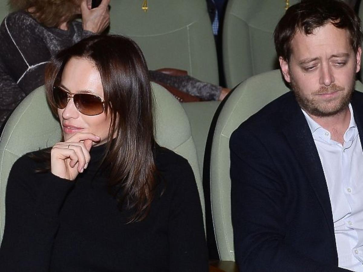 Magdalena Różczka, Jan Holoubek na premierze filmu Excentrycy