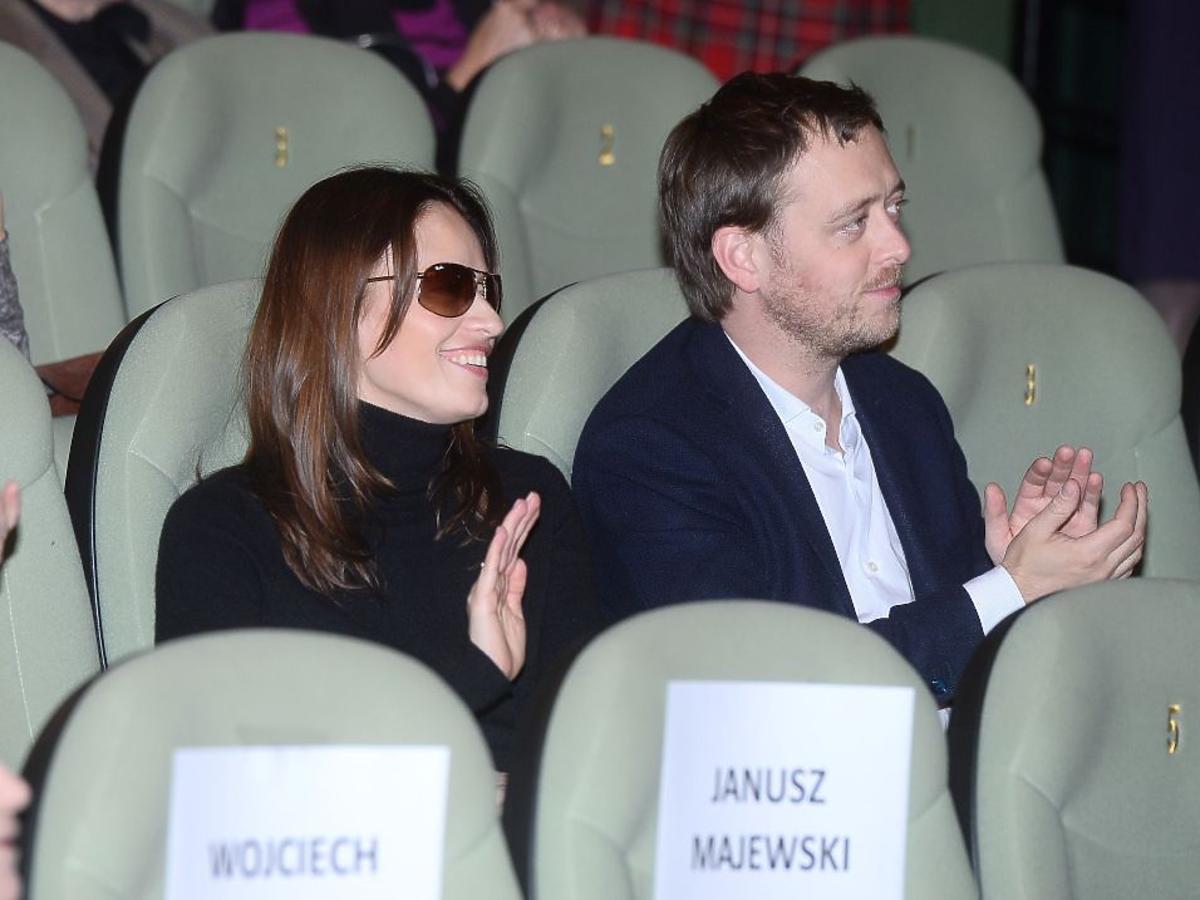 Magdalena Różczka, Jan Holoubek na premierze w kinie