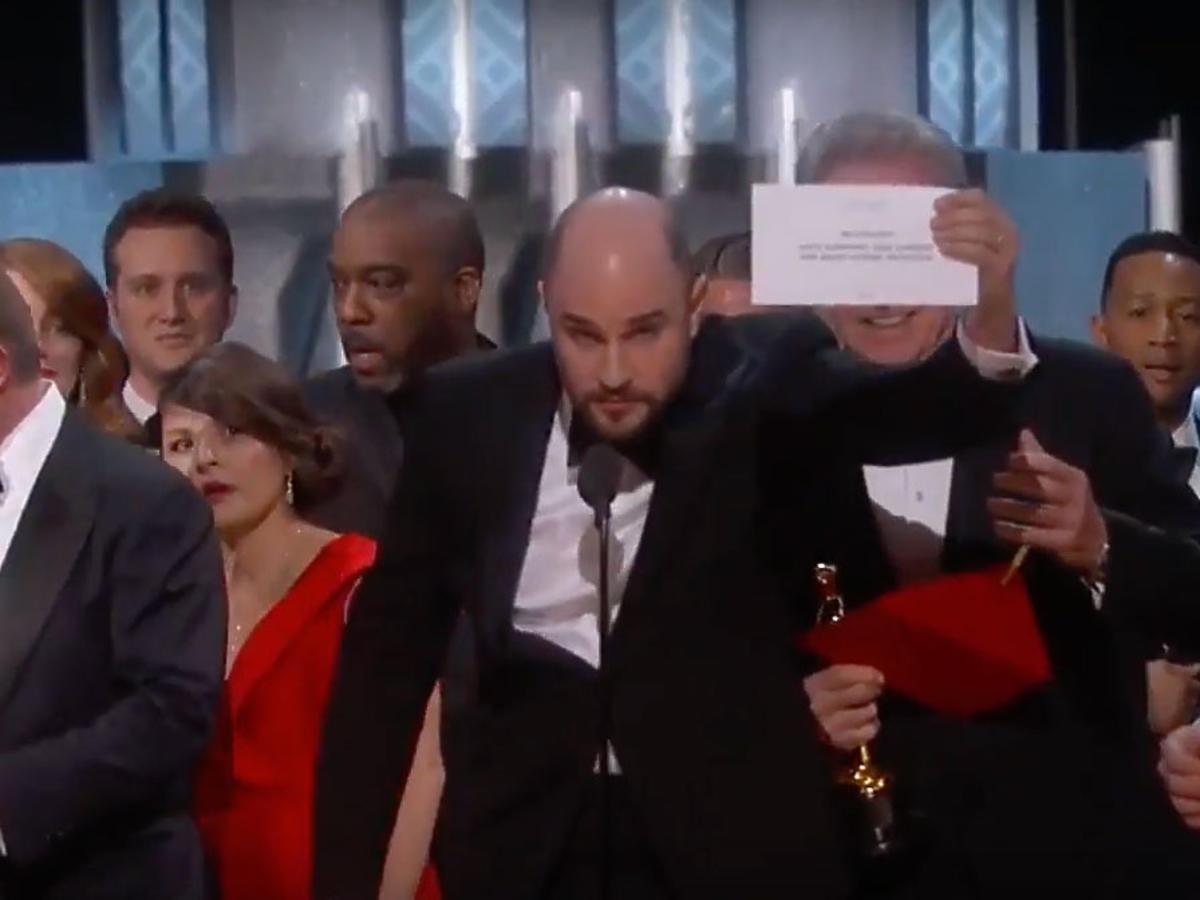 Wpadka na gali Oscarów
