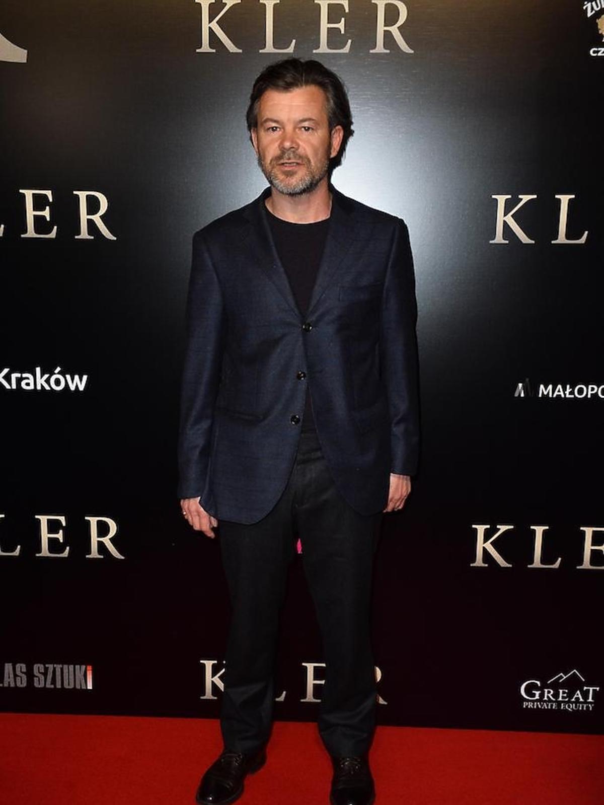 Jacek Braciak na premierze filmu Kler