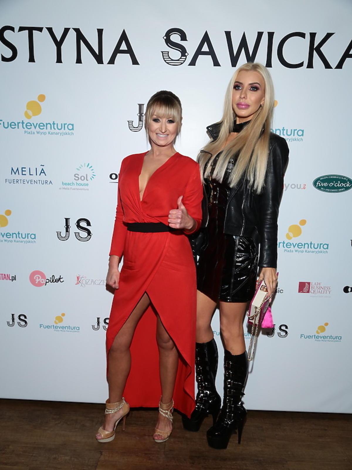 Justyna Sawicka i Anella podczas premiery teledysku
