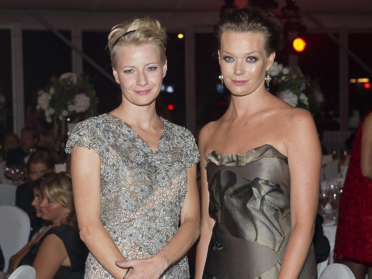 Małgorzata Kożuchowska, Tamara Arciuch w balowych sukniach na imprezie TVN
