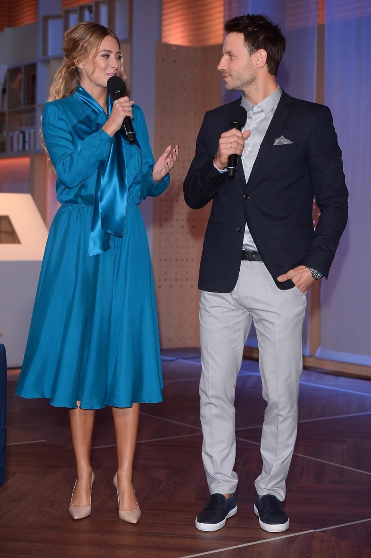 Marcelina Zawadzka i Tomasz Wolny w programie Pytanie na śniadanie
