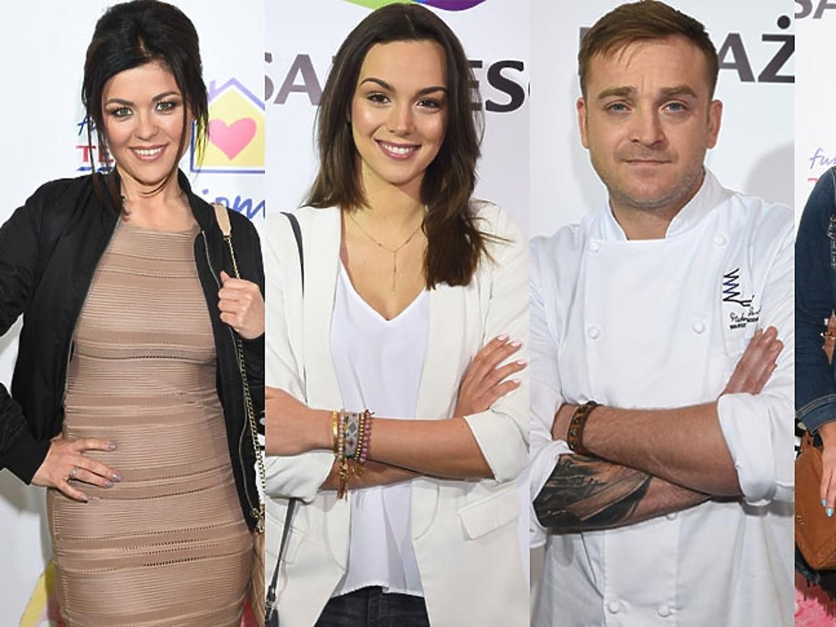 Mateusz Gessler, Kasia Cichopek, Paulina Krupińska i Agnieszka Kaczorowska na wielkanocnym spotkaniu