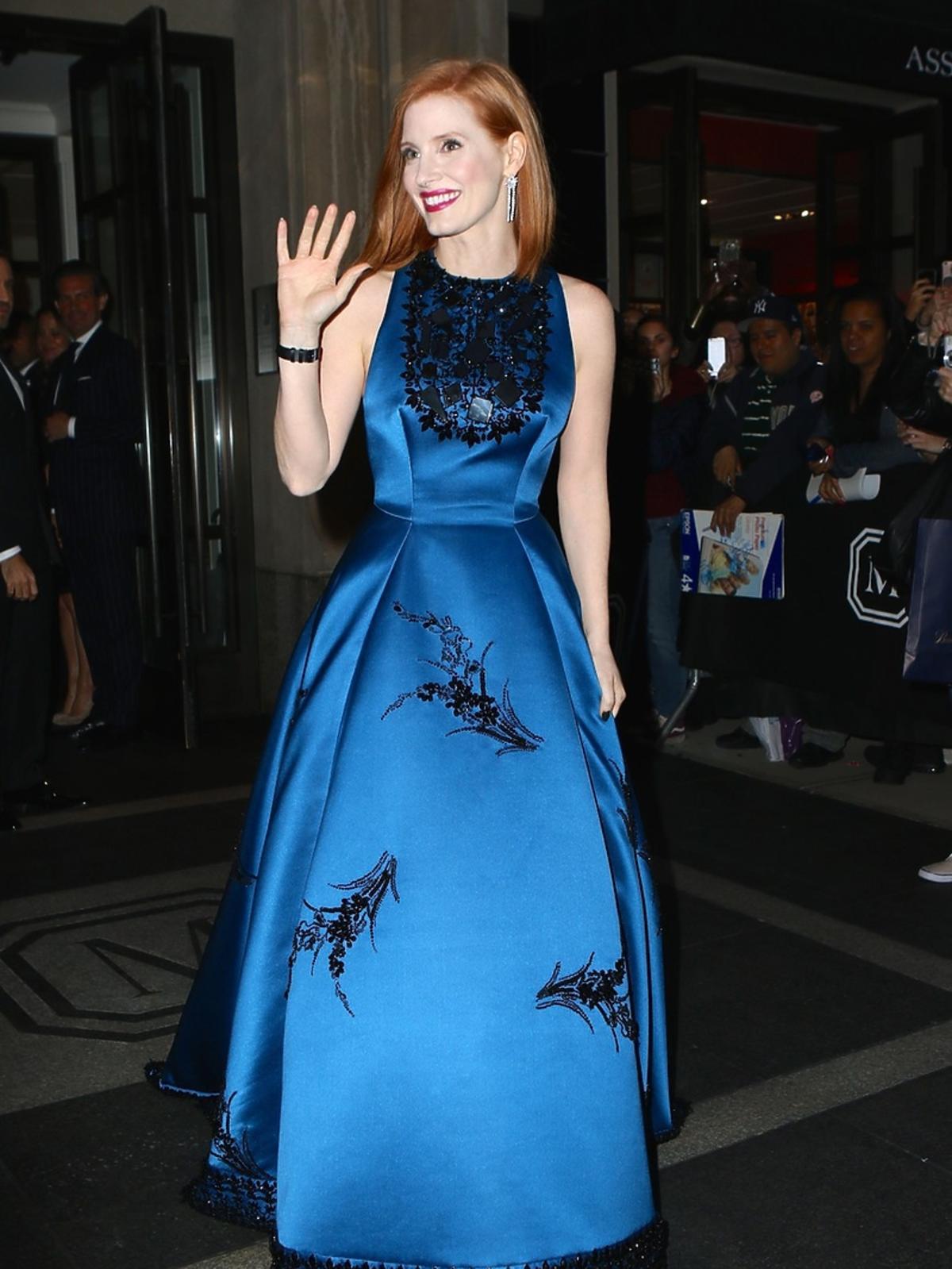 Jessica Chastain na MET Gala 2016 w Nowym Jorku