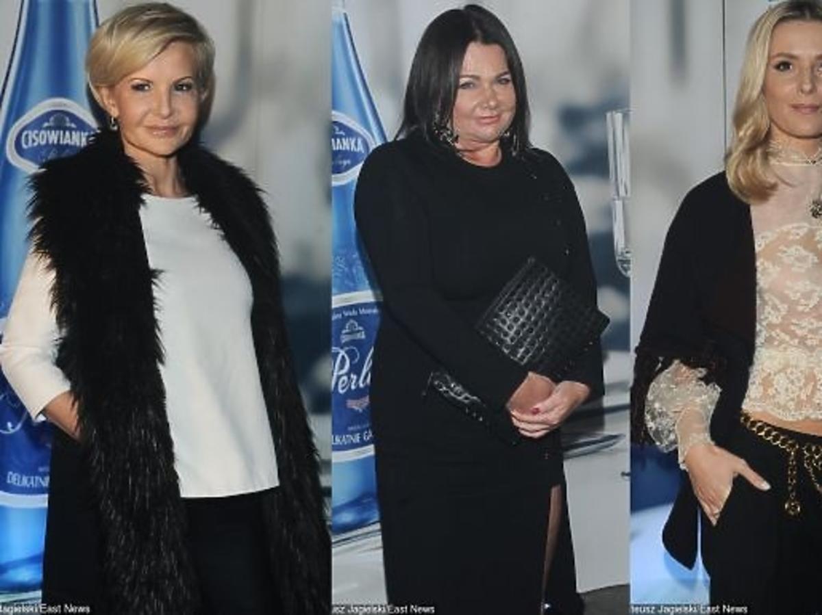 Joanna Racewicz, Katarzyna Niezgoda, Halina Mlynkova, Sara Boruc na pokazie Tomasza Ossolińskiego