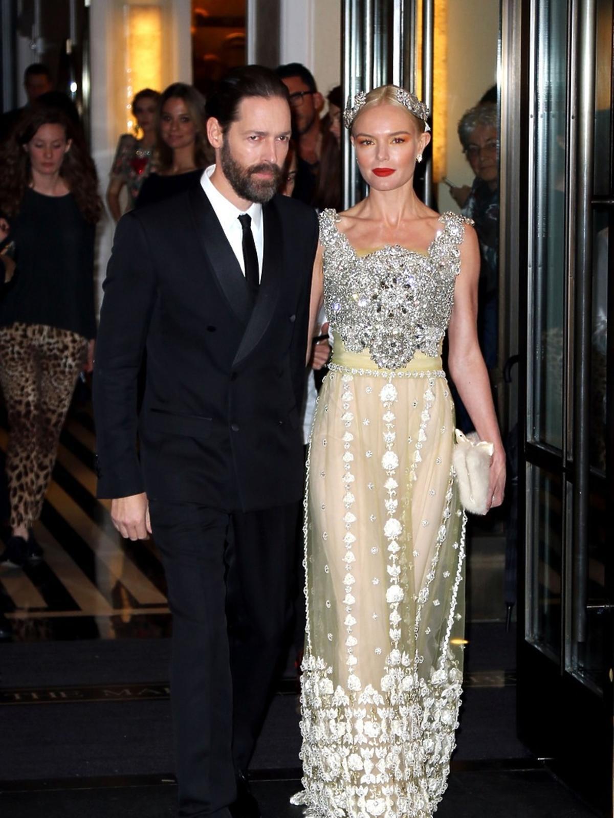 Michael Polish, Kate Bosworth na MET Gala 2016 w Nowym Jorku