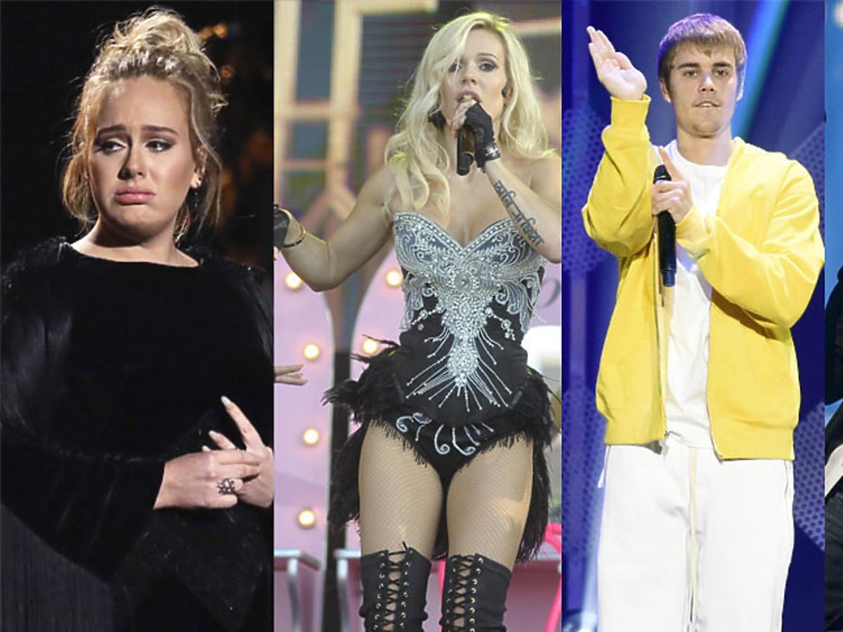 Adele, Doda, Justin Bieber, Enrique Iglesias - wpadki podczas występów na żywo
