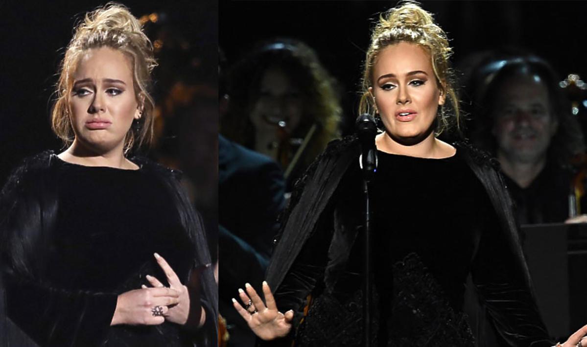 Adele na Grammy 2017 - przerwała występ