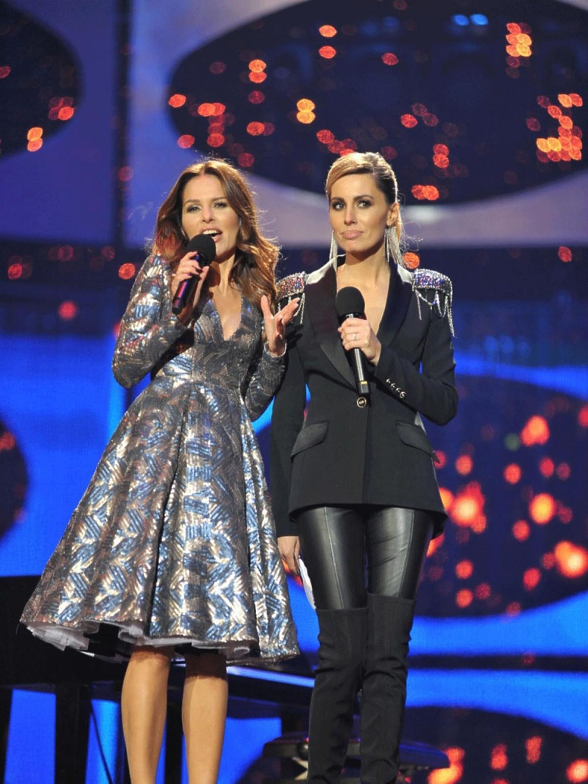Agnieszka Hyży, Paulina Sykut podczas Sylwestra Polsatu