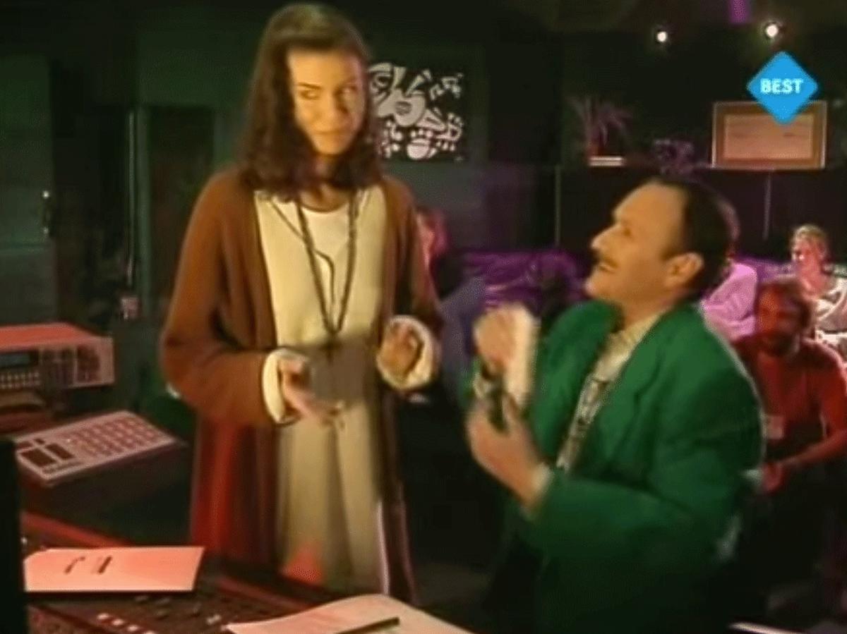 Edyta Górniak, Jacek Cygan podczas próby do Eurowizji