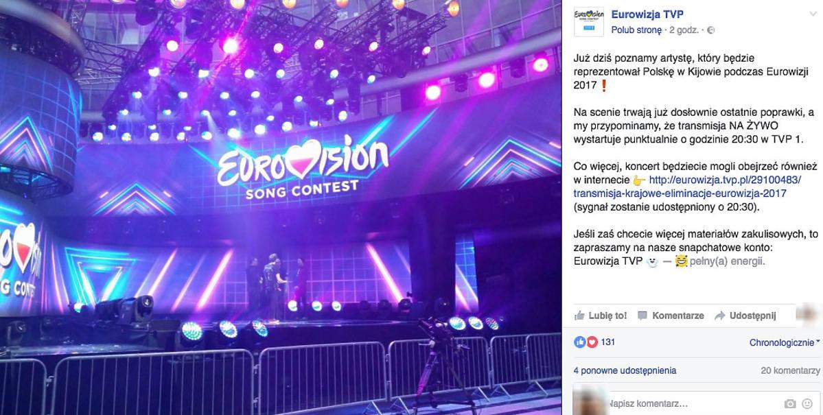 Finał polskich preselekcji do Eurowizji - scena
