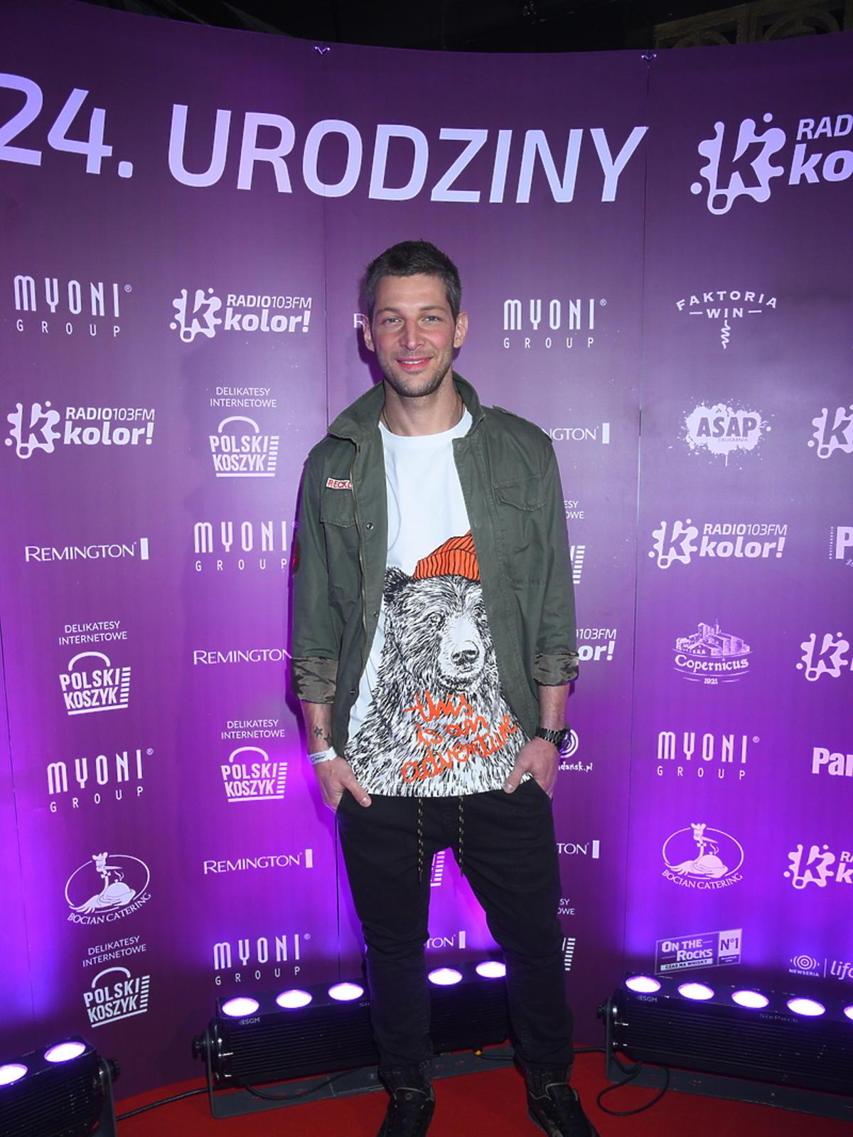 Leszek Stanek na urodzinach Radia Kolor