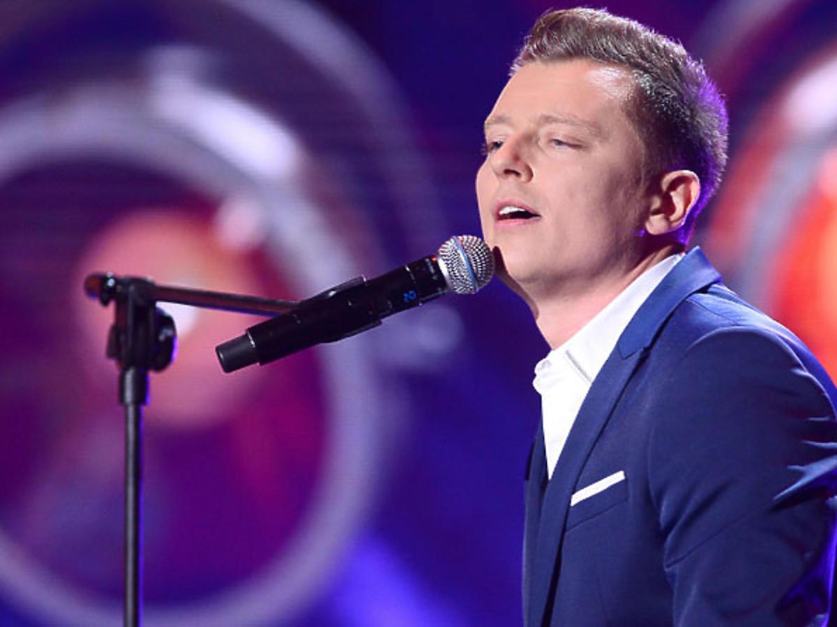 Rafał Brzozowski podczas preselekcji do Eurowizji 2017