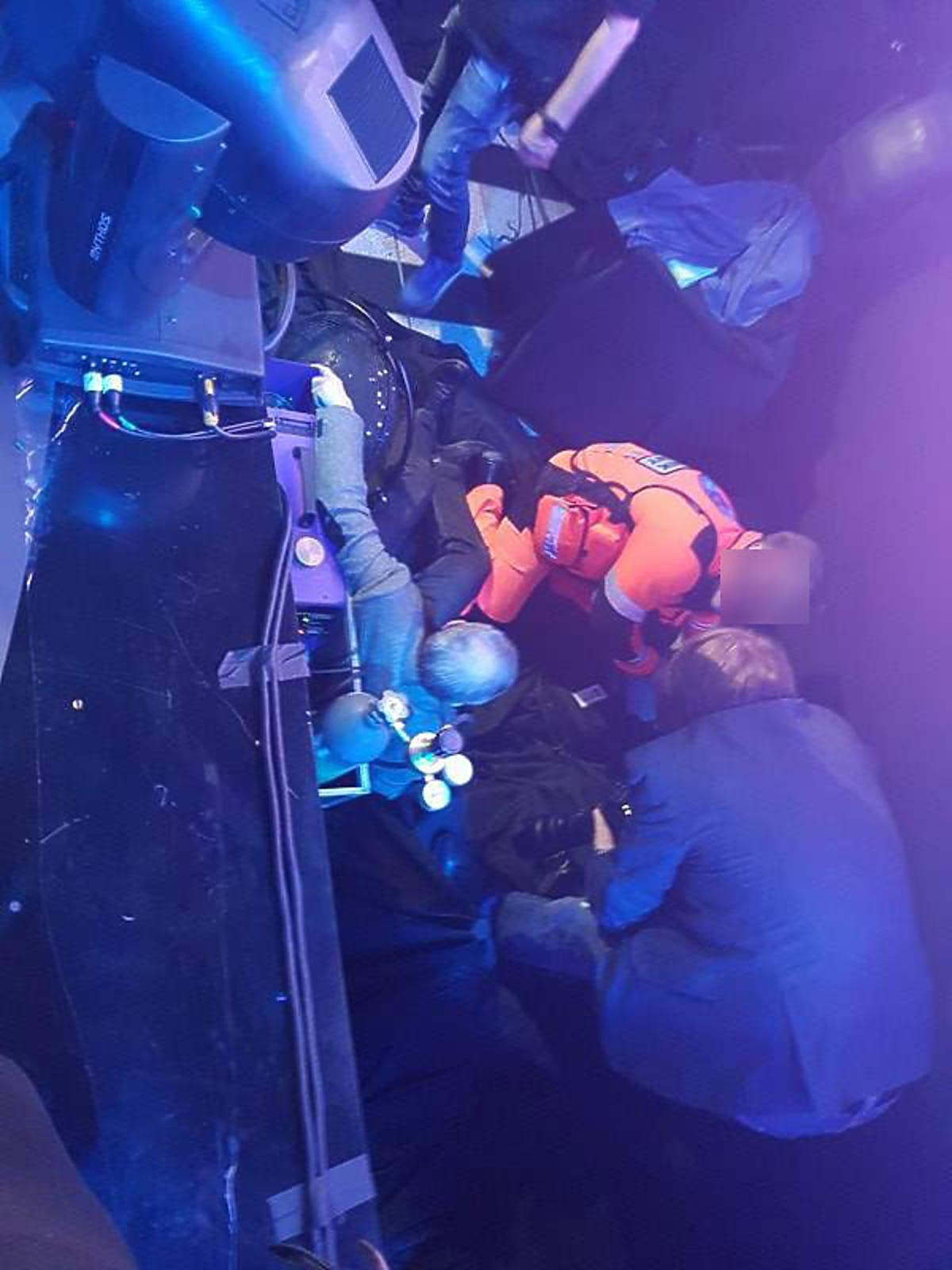 Wypadek podczas polskich preselekcji do Eurowizji - dziennikarz spadł ze sceny
