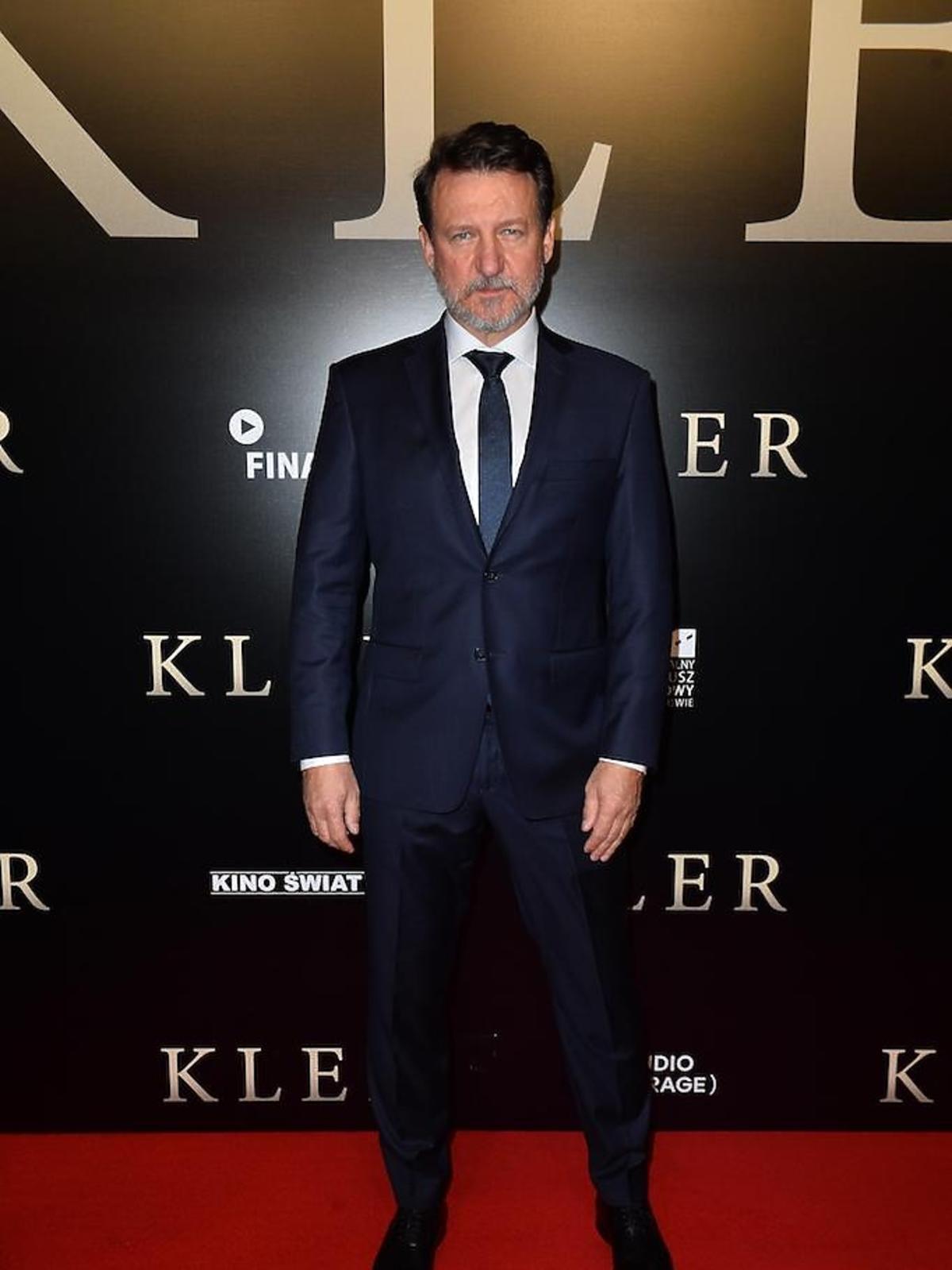 Robert Więckiewicz na premierze filmu Kler