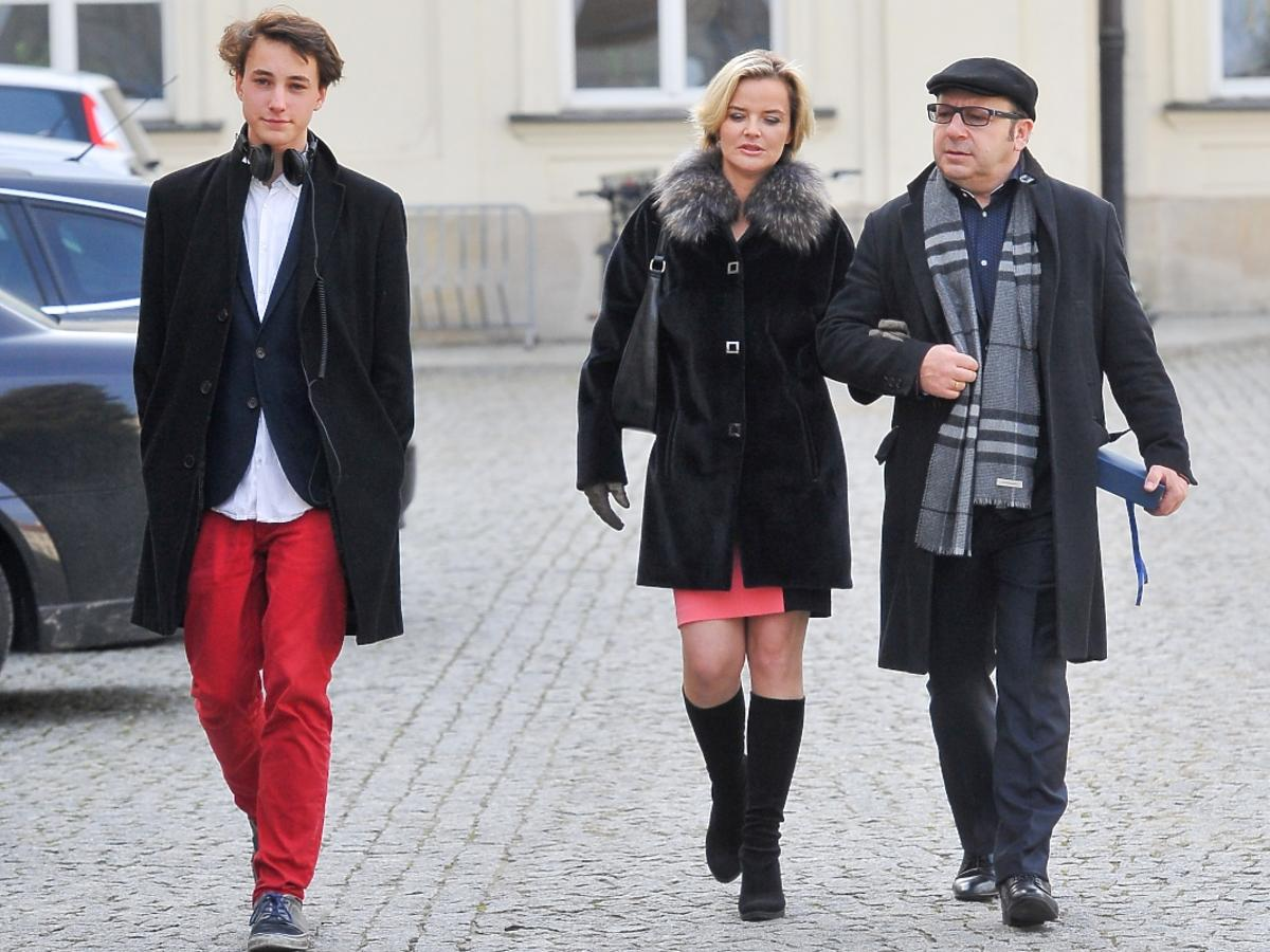 Zbigniew Zamachowski zabrał do Ministerstwa Kultury żonę Monikę i syna Antoniego