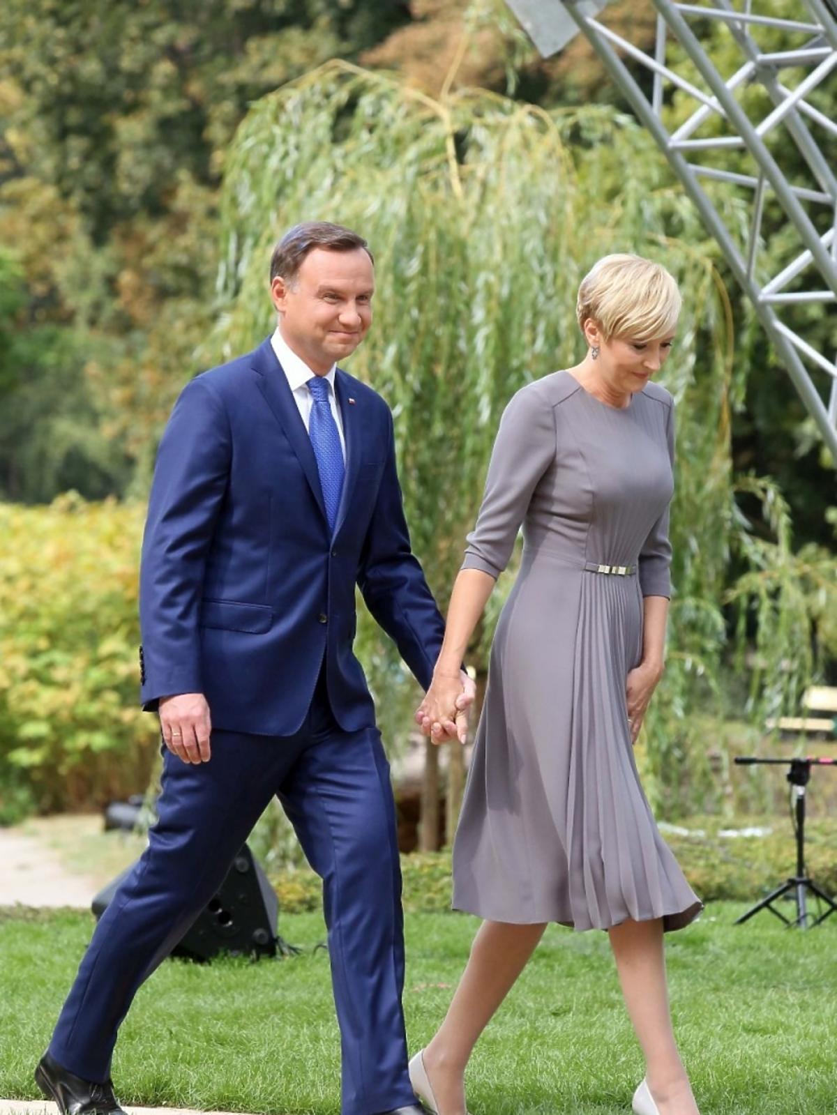 Agata Duda i Andrzej Duda na Narodowym Czytaniu