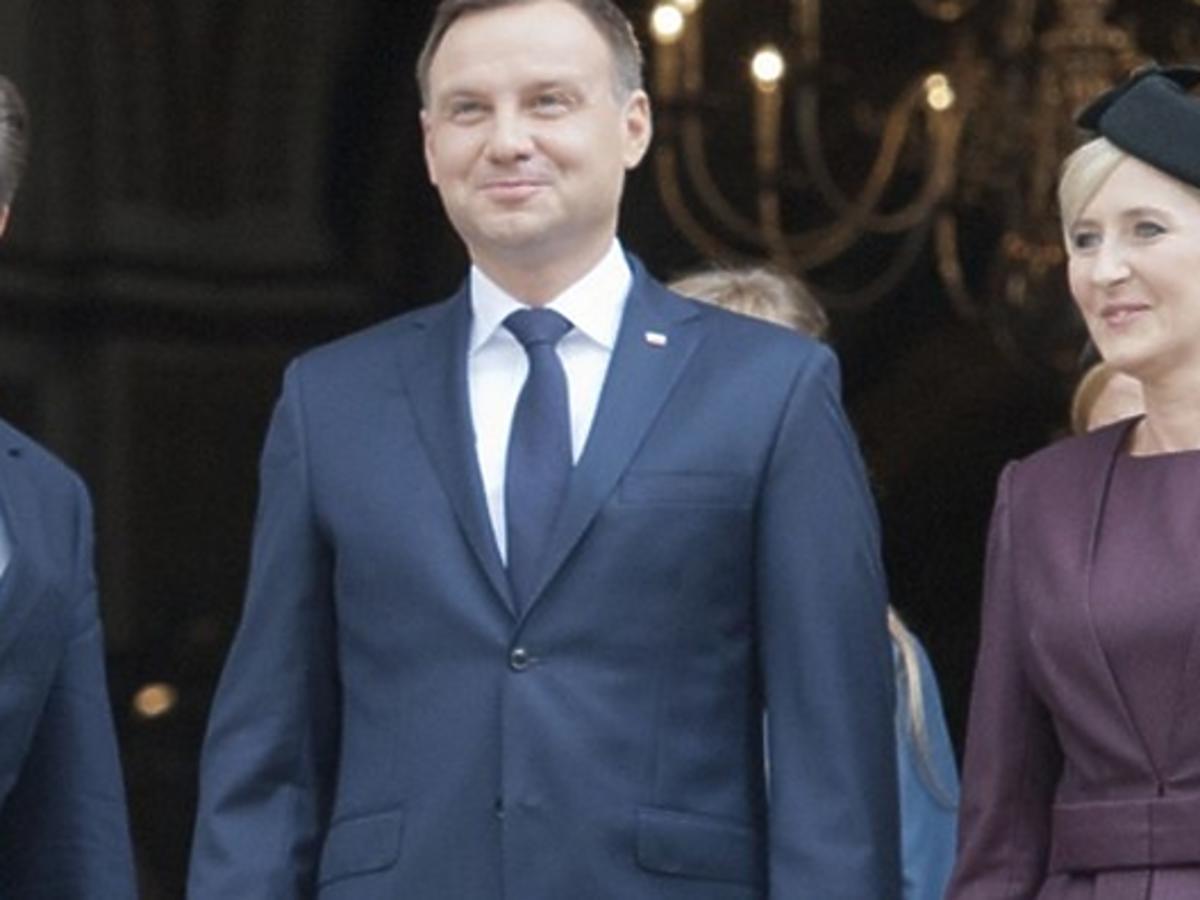 Agata Duda z mężem Andrzejem Dudą w Londynie
