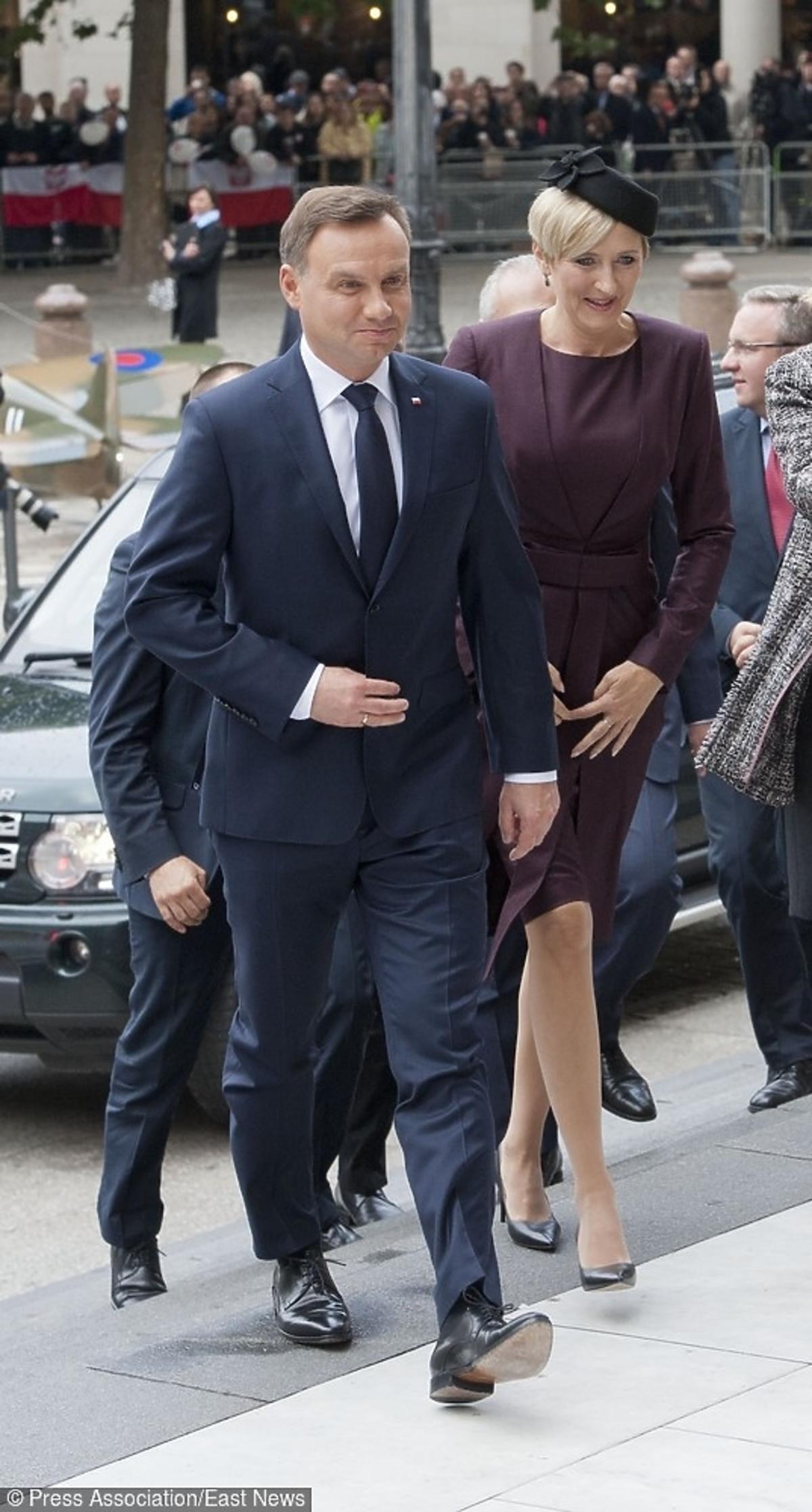 Agata i Andrzej Duda w Anglii