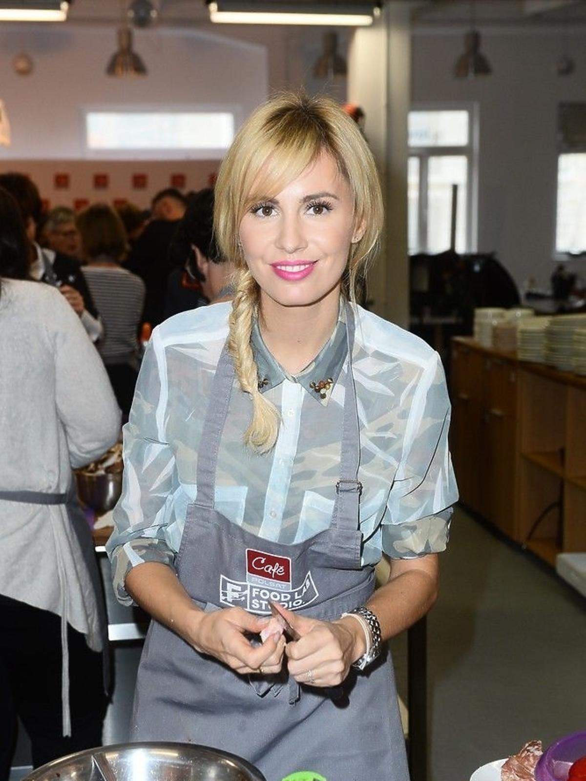 Agnieszka Hyży na konferencji Polsat Cafe
