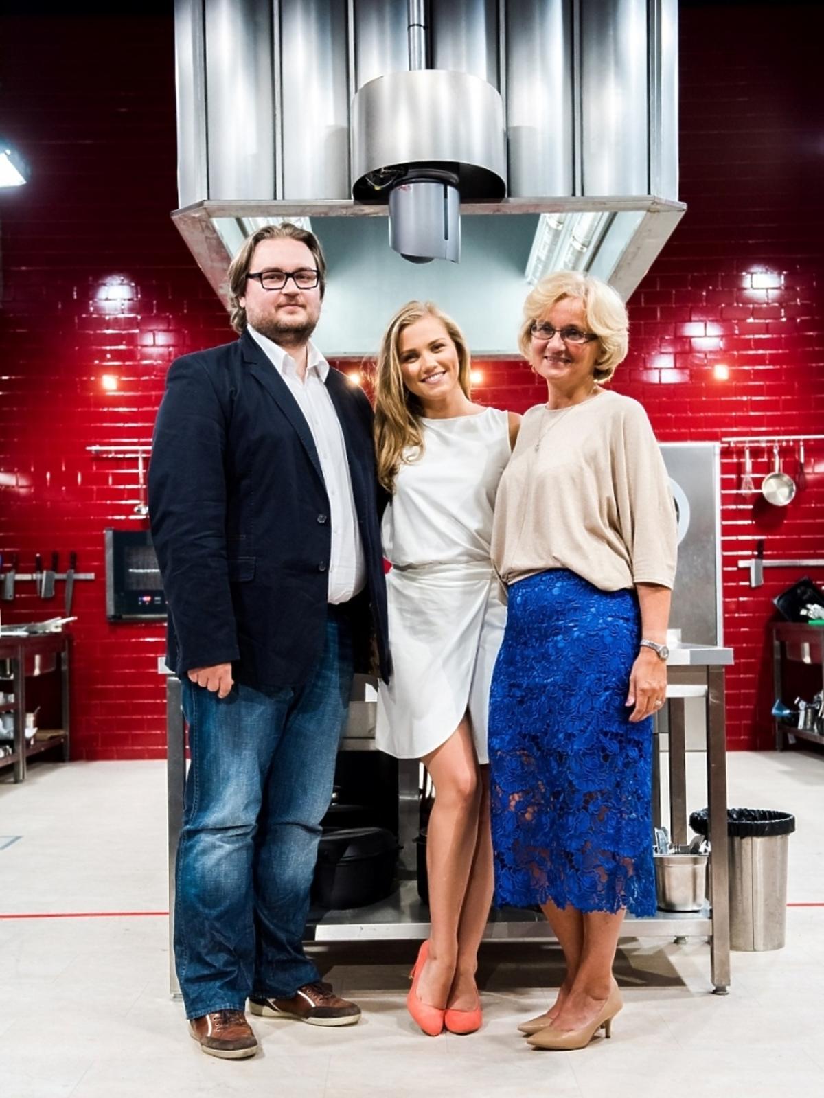 Agnieszka Kaczorowska z rodziną w Hell's Kitchen