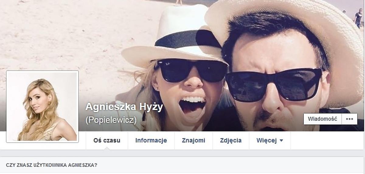 Agnieszka Popielewicz po ślubie przyjęła nazwisko męża, Grzegorza Hyżego