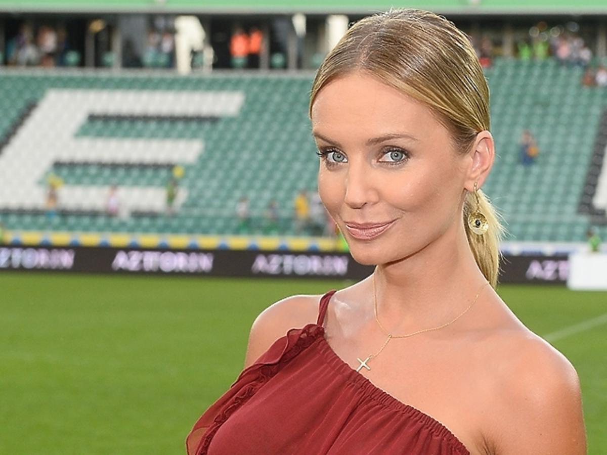 Agnieszka Szulim, mecz gwiazd TVN kontra TVP 2015
