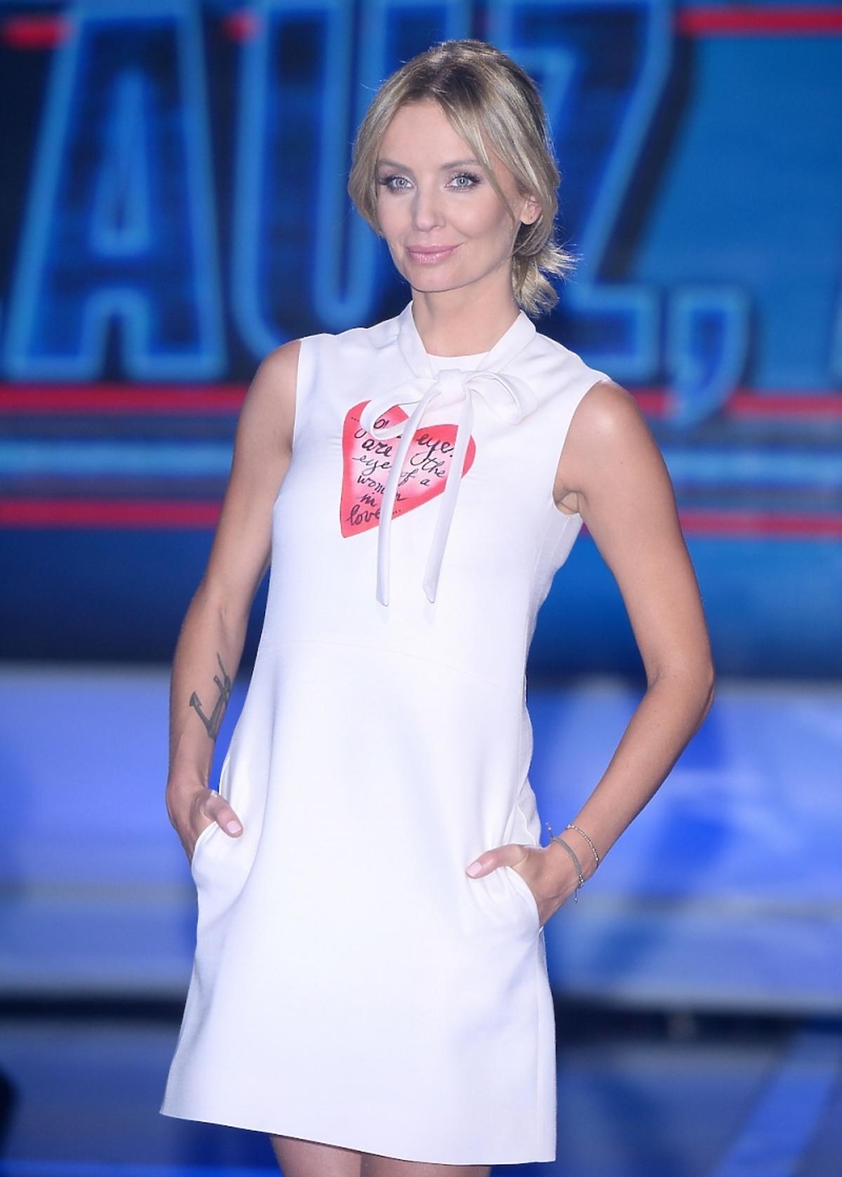 Agnieszka Szulim podczas pierwszego odcinka